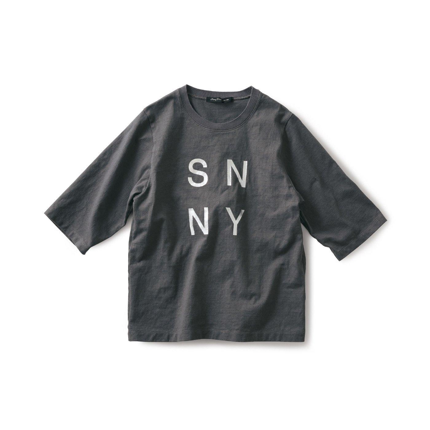 サニークラウズ 肌になじむTシャツ〈レディース〉グレー