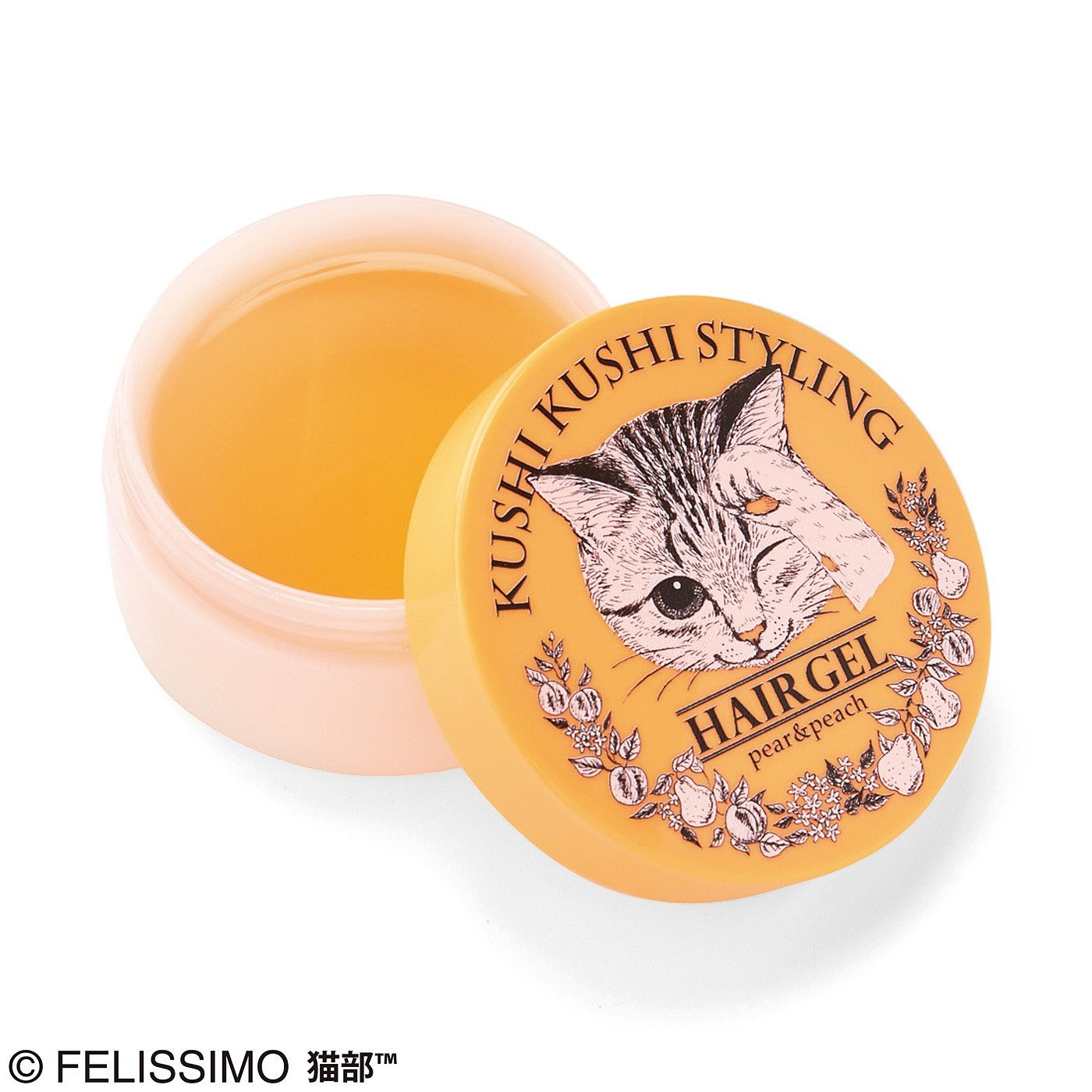 くしくし毛づくろい 3Dスタイリングヘアジェル〈ペア&ピーチの香り(オレンジ)〉の会