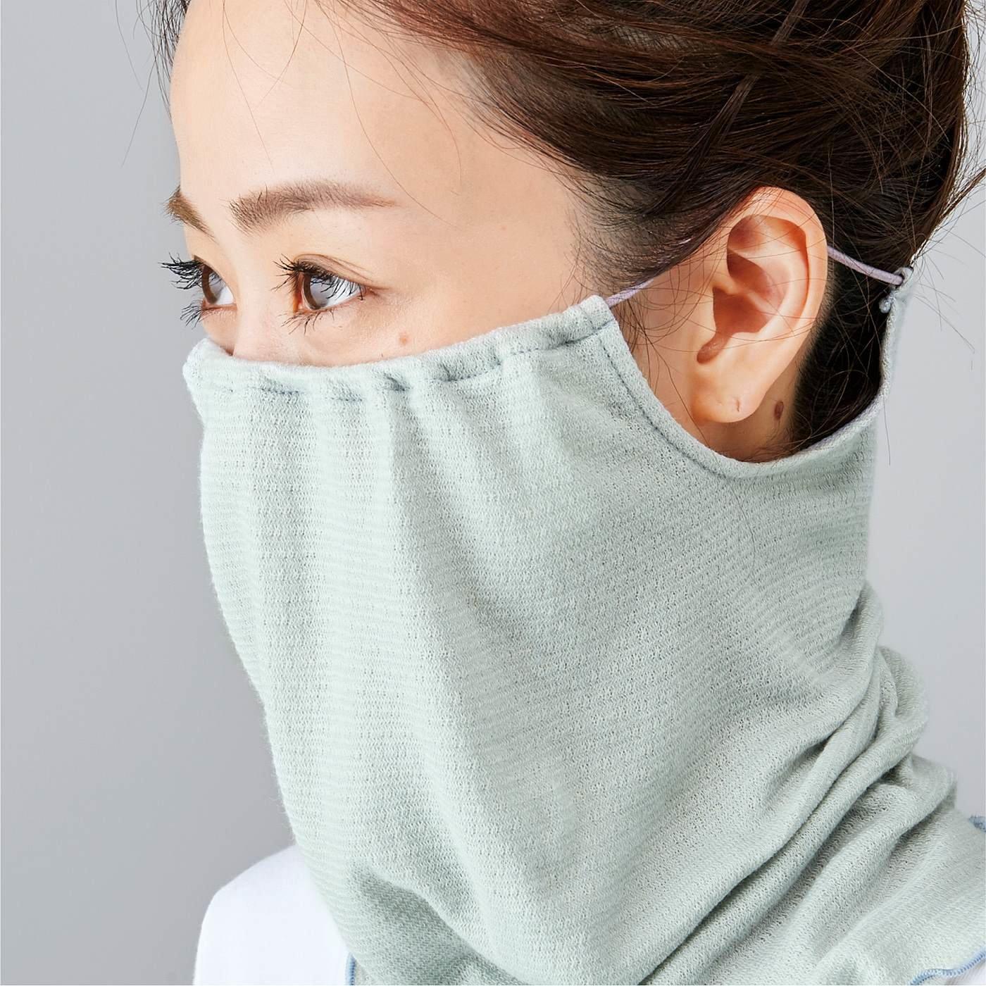 寝ているあいだもずれにくい 乾燥対策 シルク混寝るときスヌードマスクの会