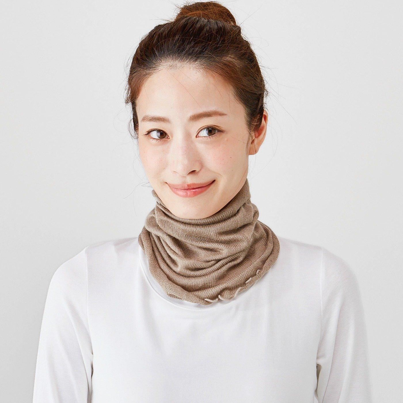 肌にとろける心地よさ 起毛シルクで編み立てたネックウォーマーの会