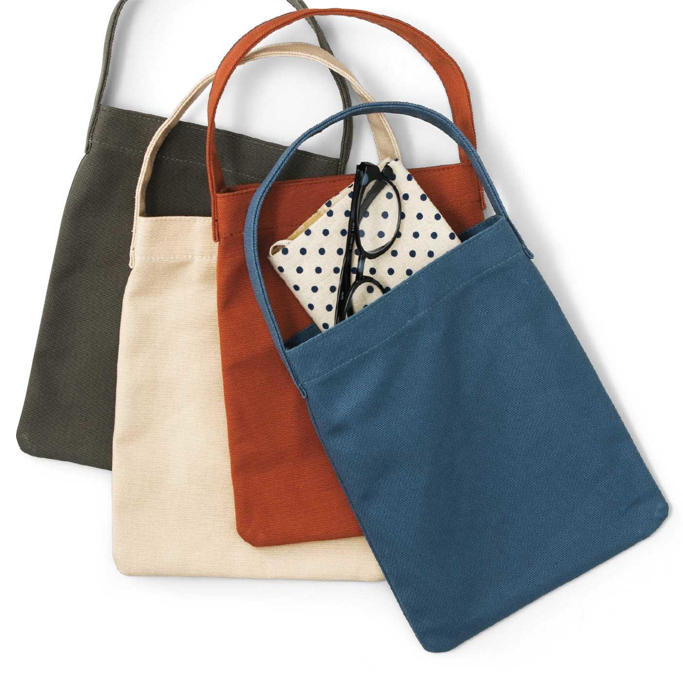 倉敷帆布を使った 大人のための縦型バッグの会
