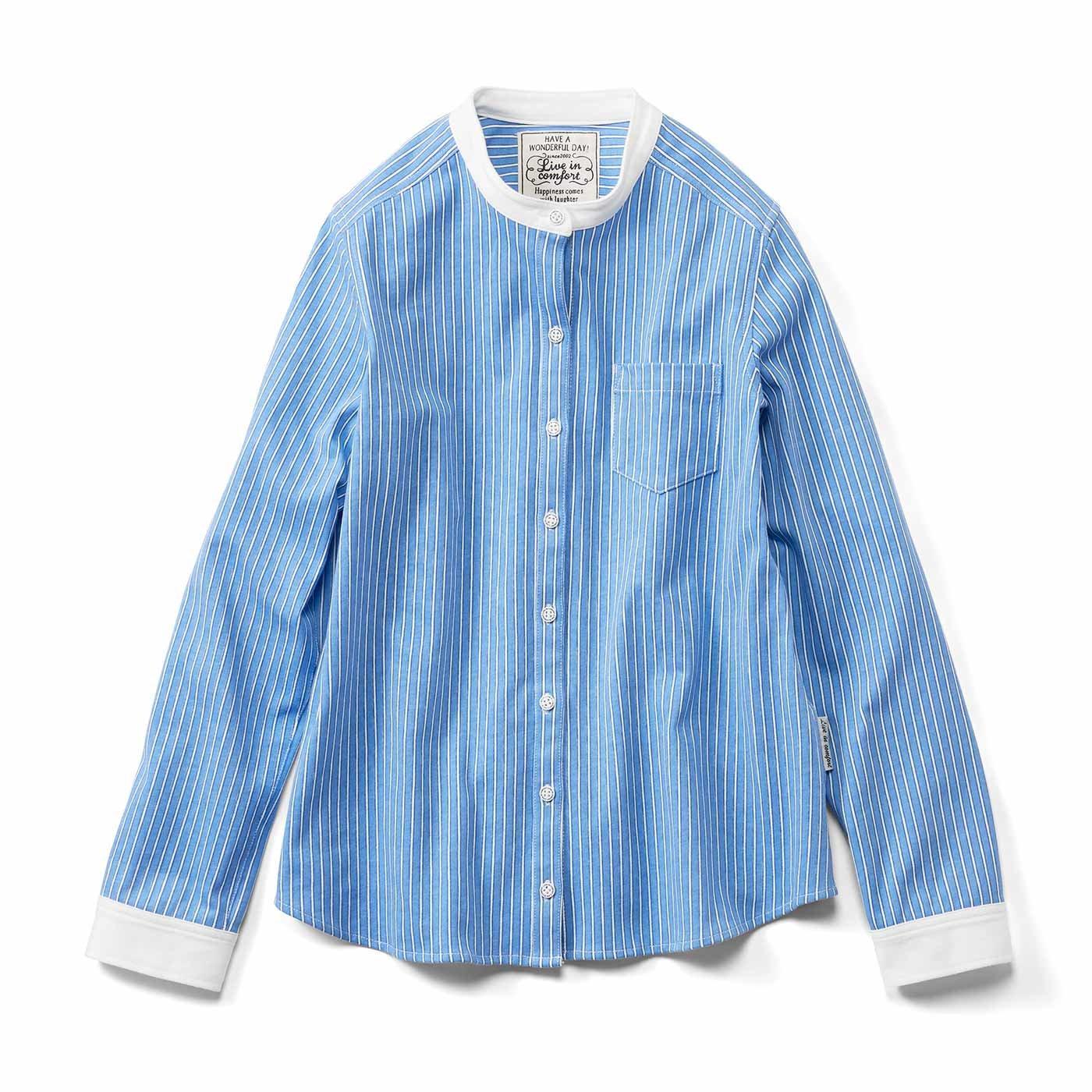 リブ イン コンフォート 綿100%カットソー素材が気持ちいい 伸びやかなシャツの会