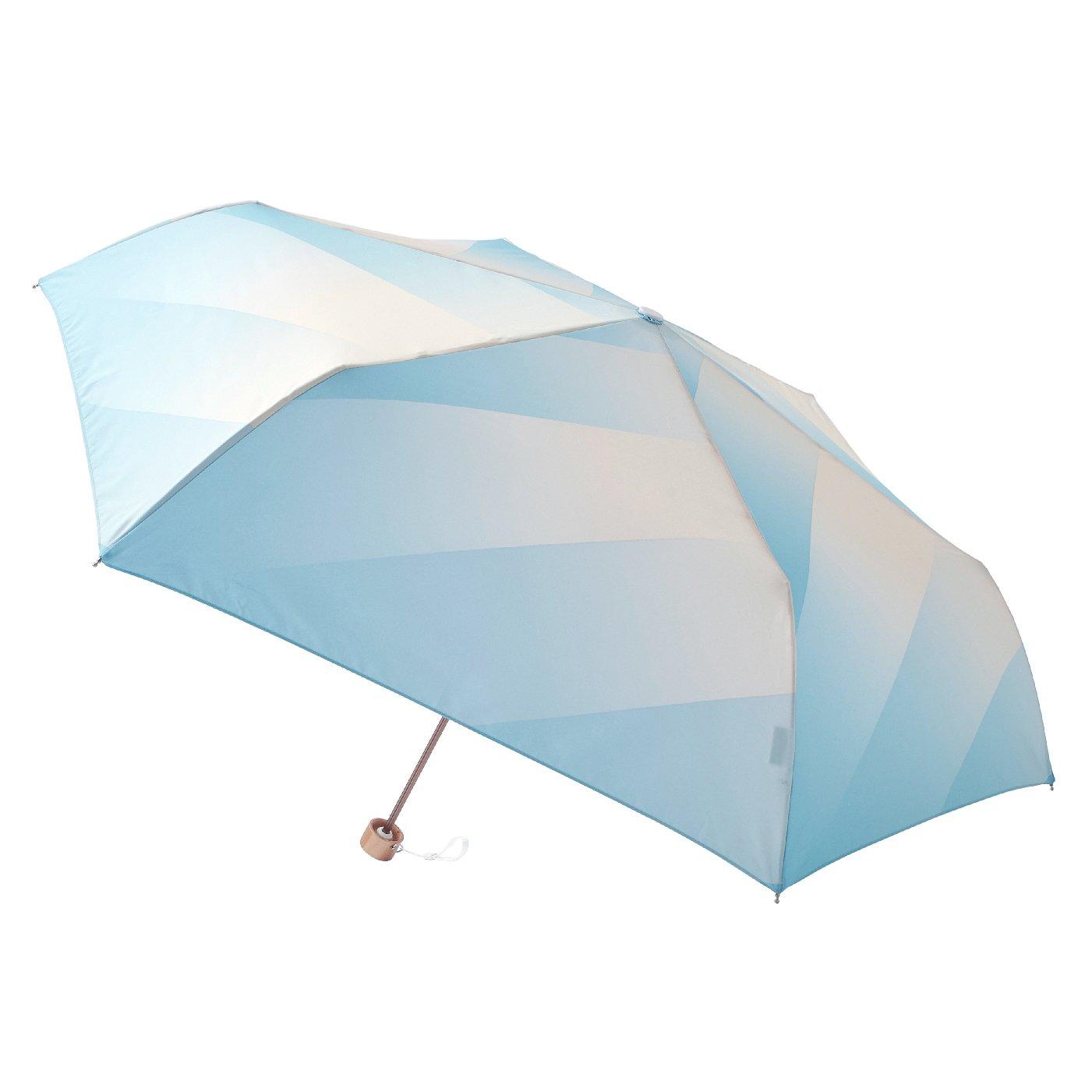 晴雨兼用 UV防止 空に映える estaa / エスタ 『あめあがり』折りたたみ雨傘