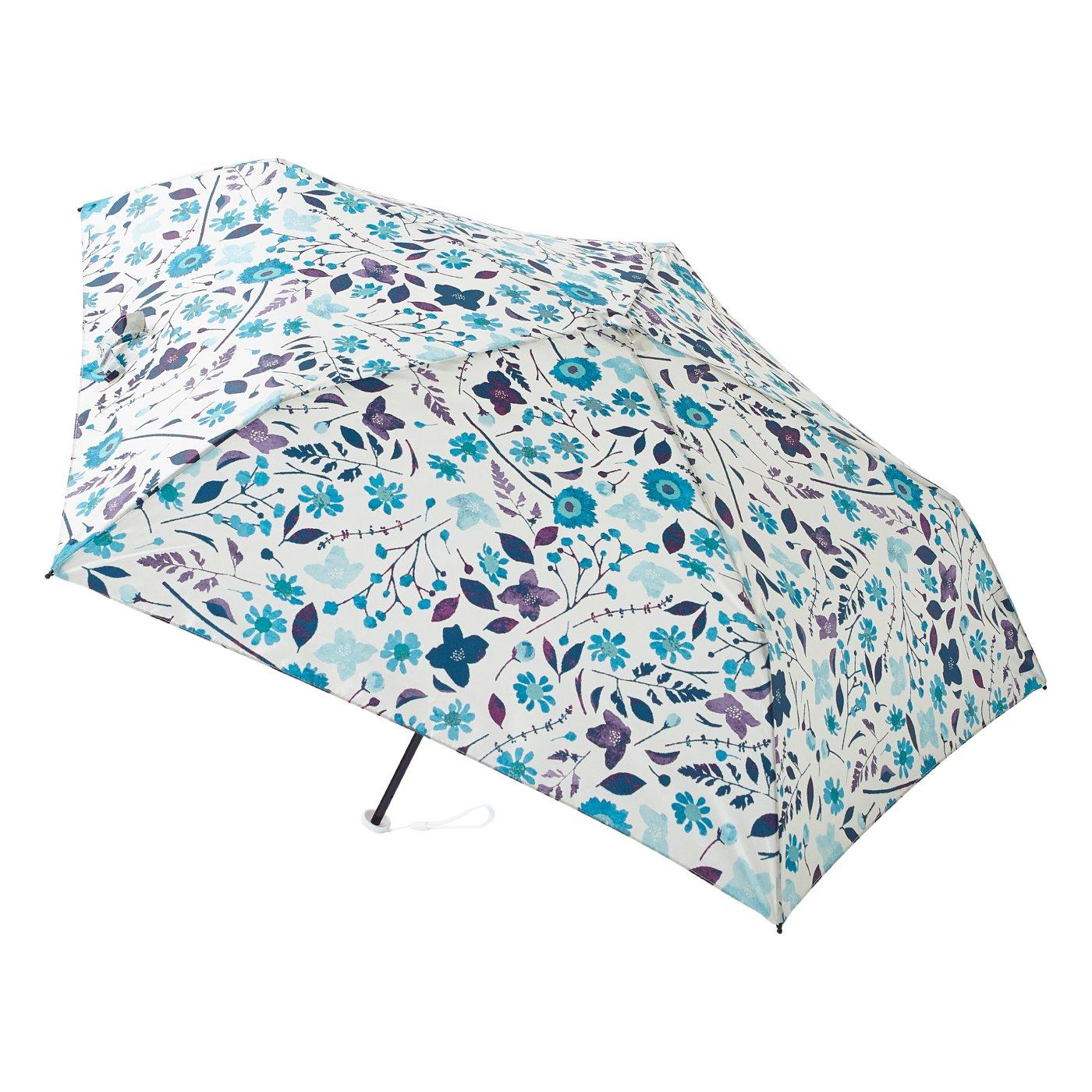 晴雨兼用 UV防止 小花が愛らしい estaa / エスタ 『はなばな』 超軽量雨傘
