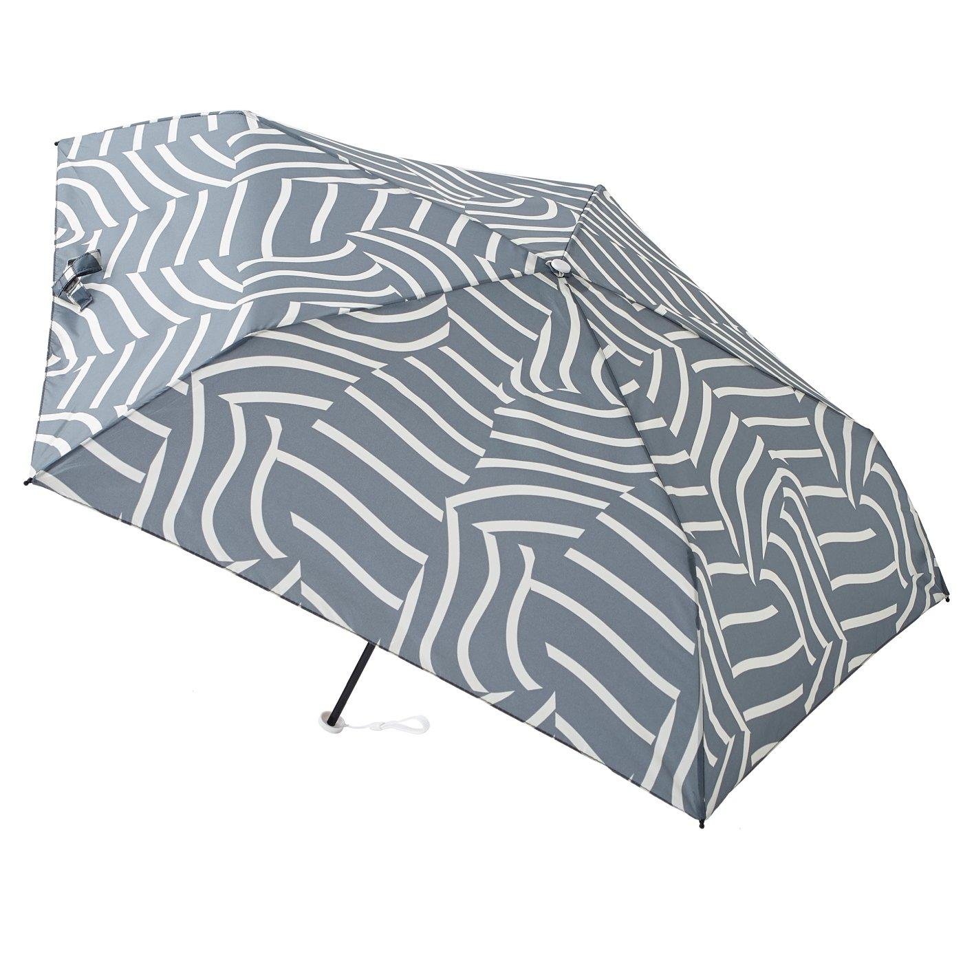 晴雨兼用 UV防止 ペールカラー estaa / エスタ 『ナミストライプ』 超軽量雨傘