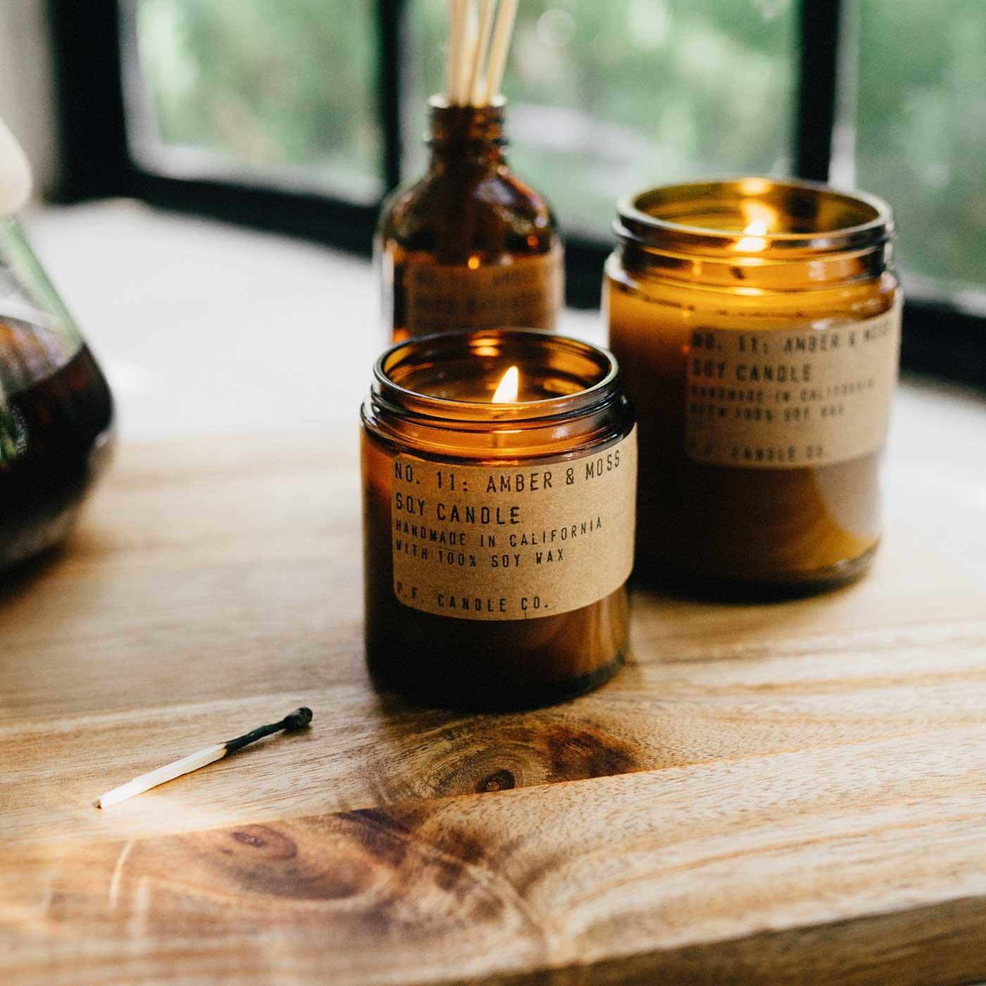 ロサンジェルスから届いた香り P.F.Candle Co. 夫婦の手作りキャンドル [L]