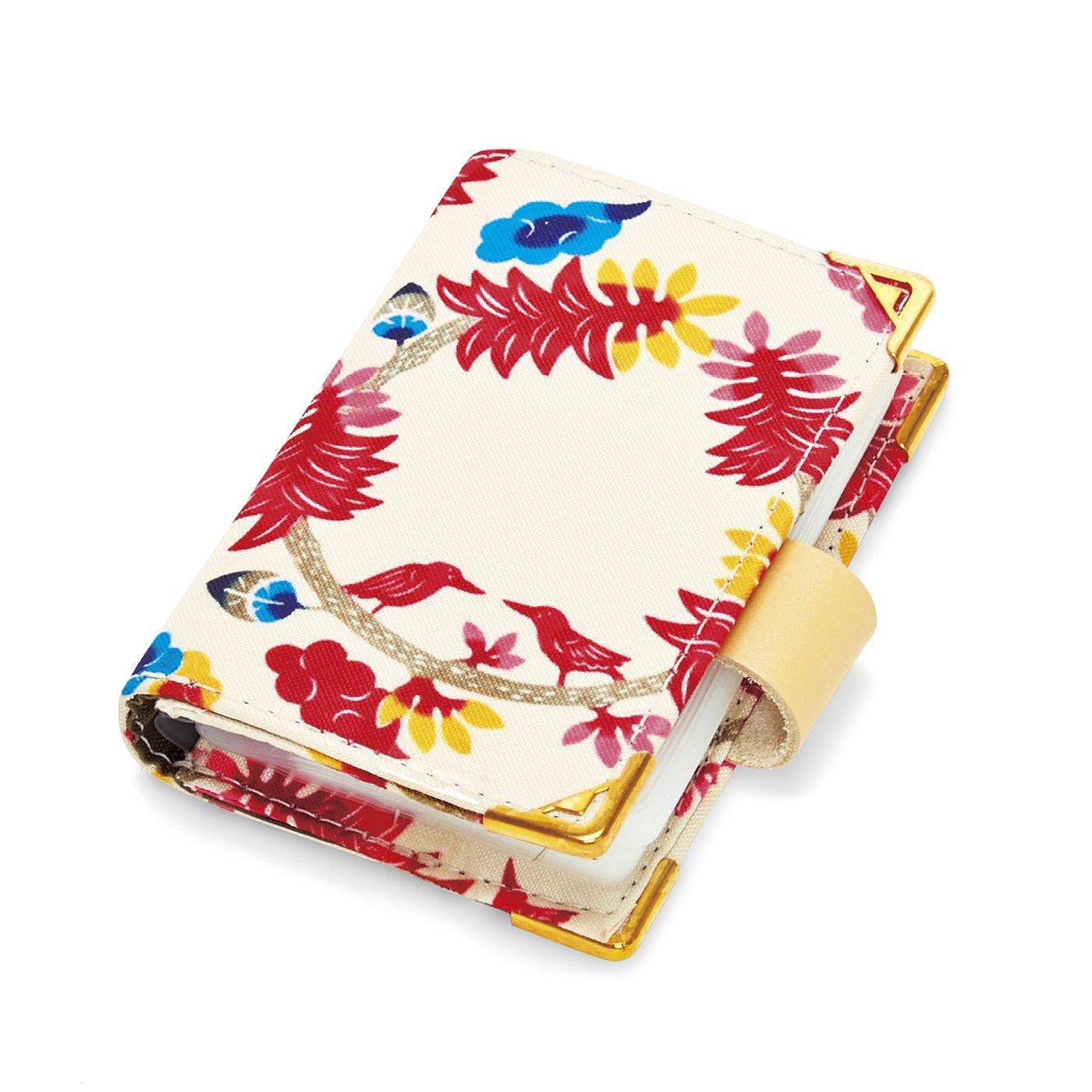 パッと開いて花ひらく 琉球紅型プリントカードケース