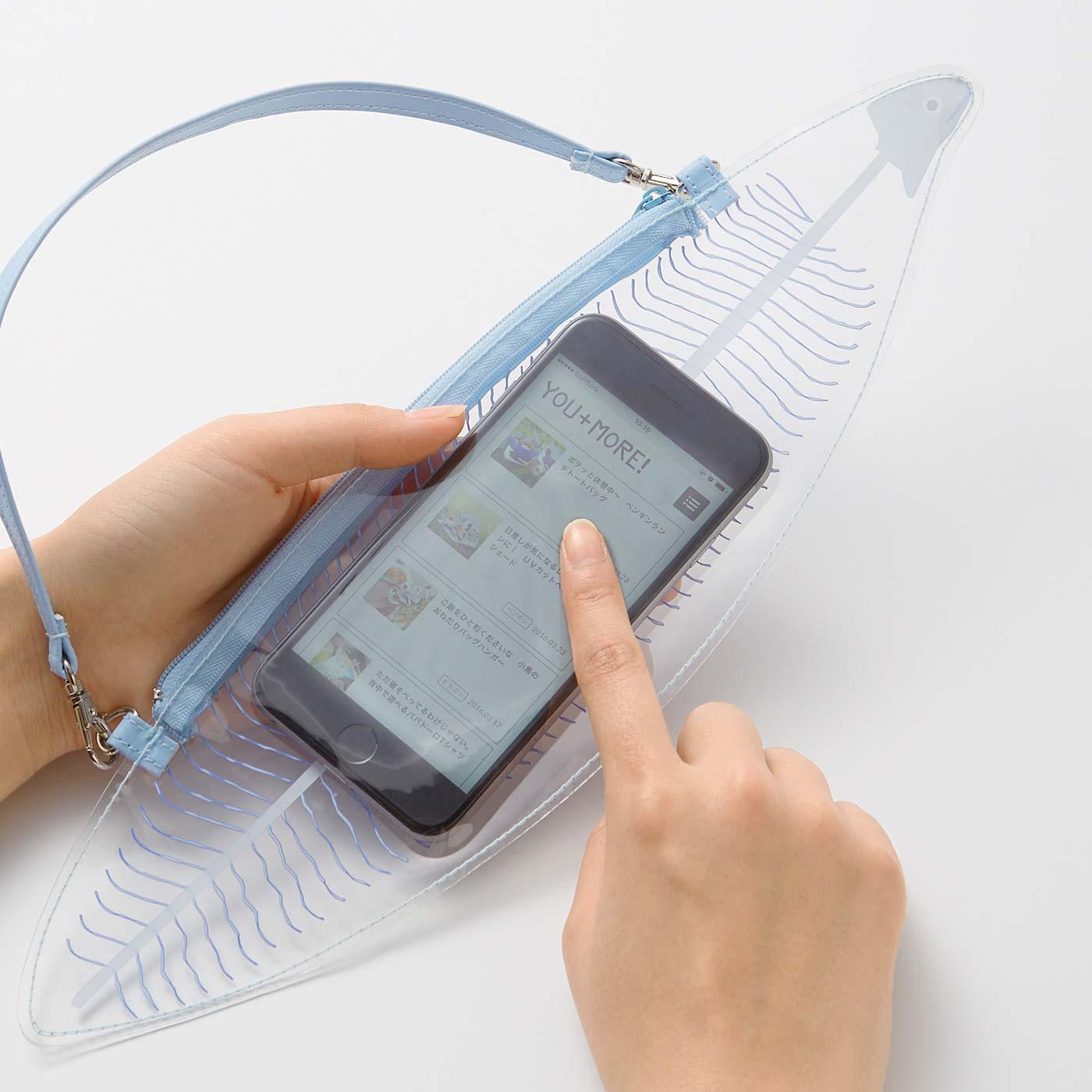 スマートフォンを入れたまま操作できます!