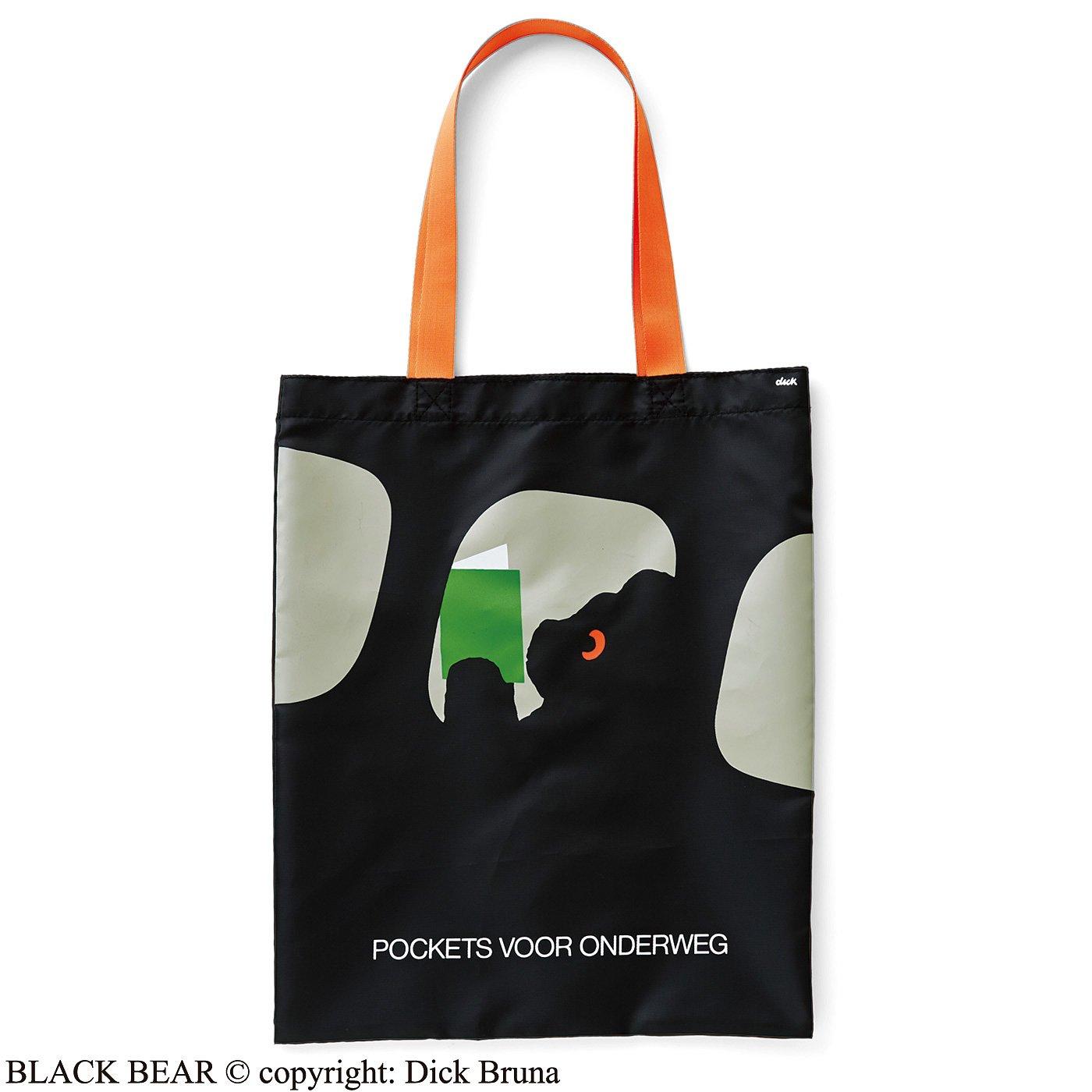 ブラック・ベア ポスターデザイン図書館バッグ