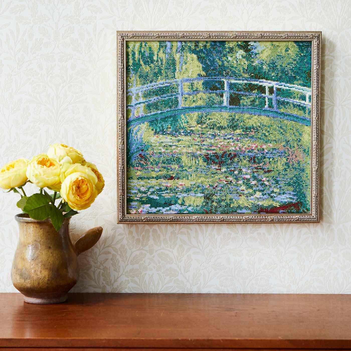 自然の美しさに魅せられて  クロード・モネ「睡蓮の池」クロスステッチキット(大)