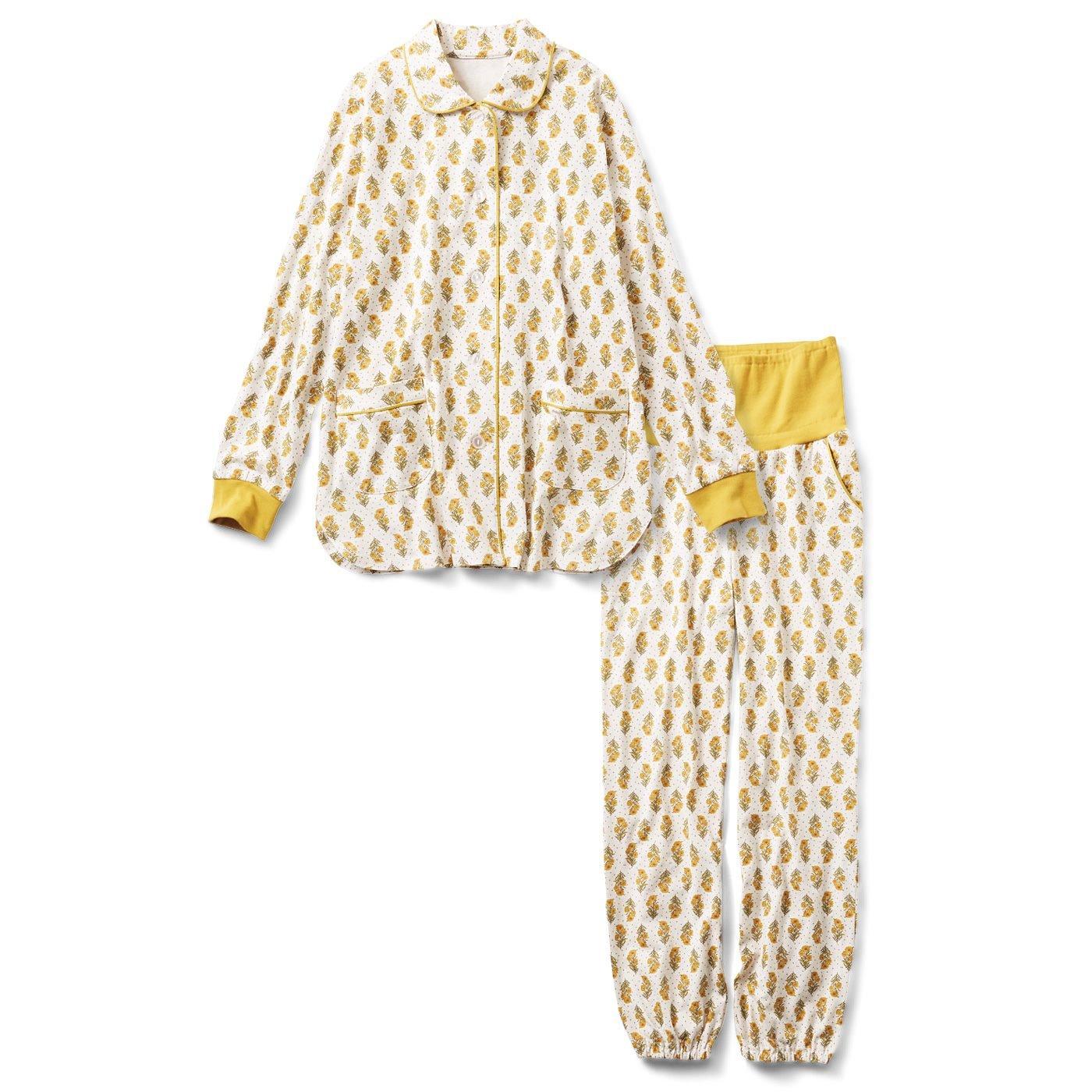 【3~10日でお届け】リブ イン コンフォート 素肌に気持ちいい 綿素材のカットソープリントパジャマ