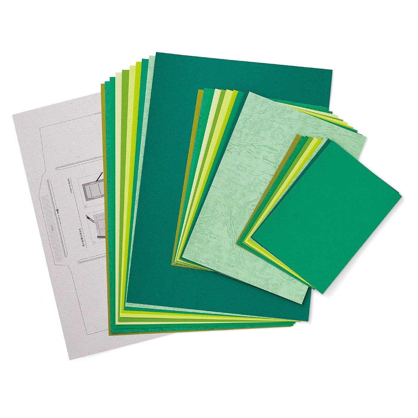 OSYAIRO 紙の専門商社竹尾が選ぶ 色を楽しむ紙セットの会〈緑〉