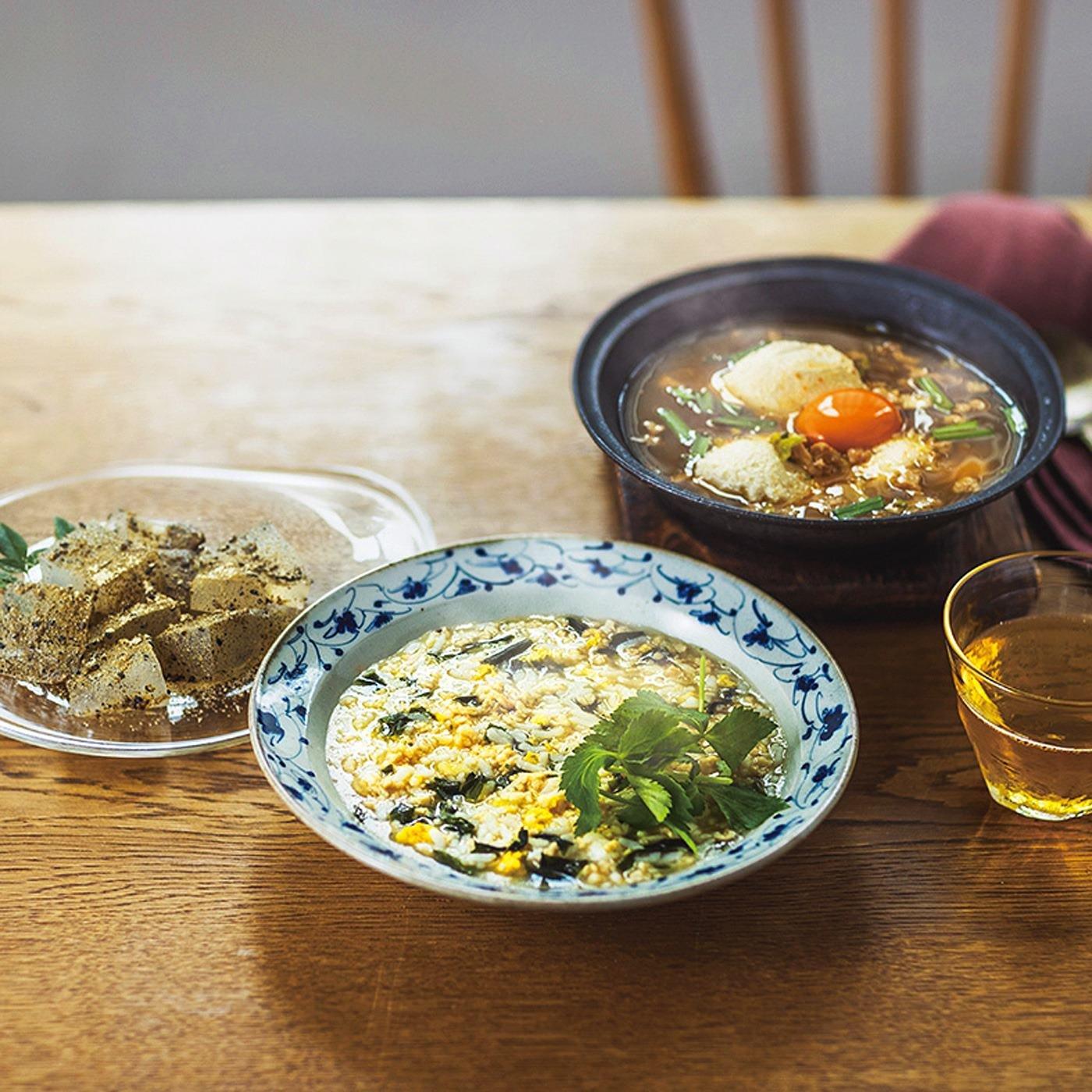 和スイーツが加わった おいしくキレイにゆるやか ローカーボ低糖質雑炊とからだが喜ぶスープセットの会(6回予約)