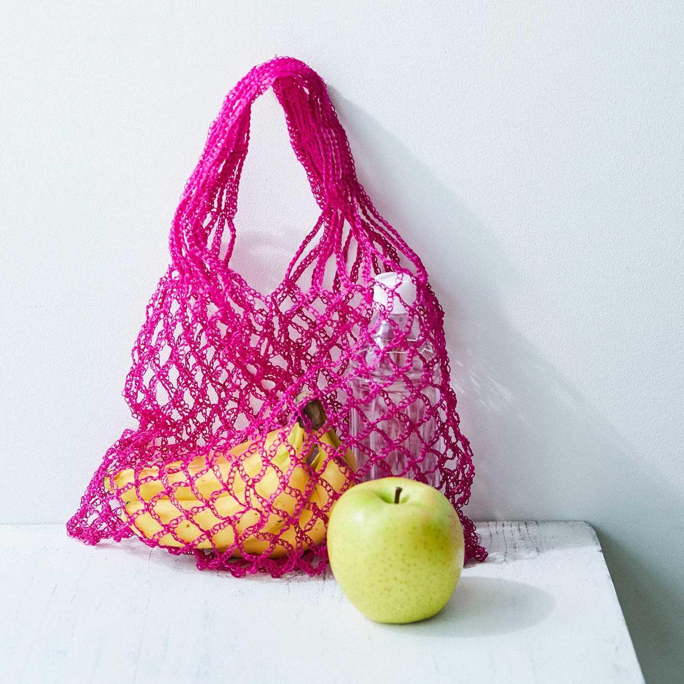 透かし編みバッグが編める 鮮やかプラコードの糸とミニブック「PatternsNote」