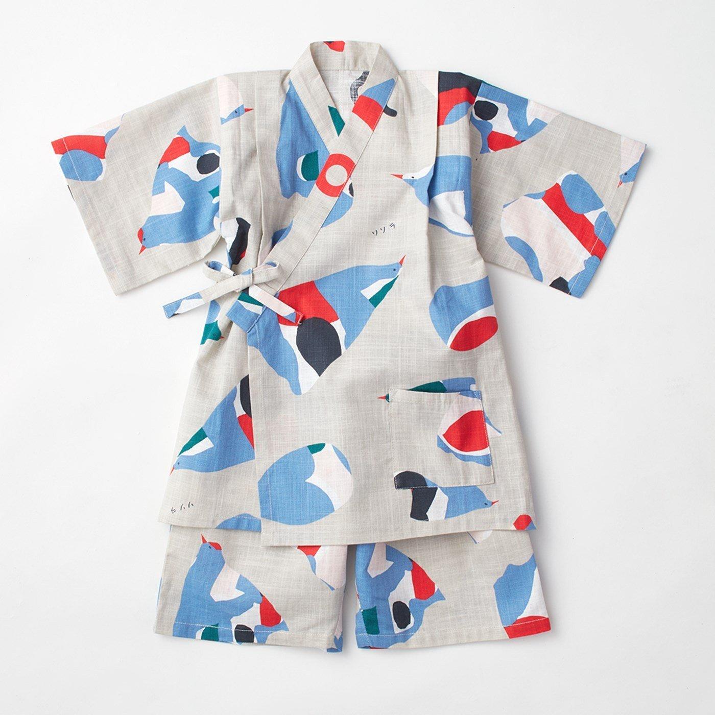 【3~10日でお届け】京都Subikiawa食器店さんとつくった 風船鳥柄のじんべい