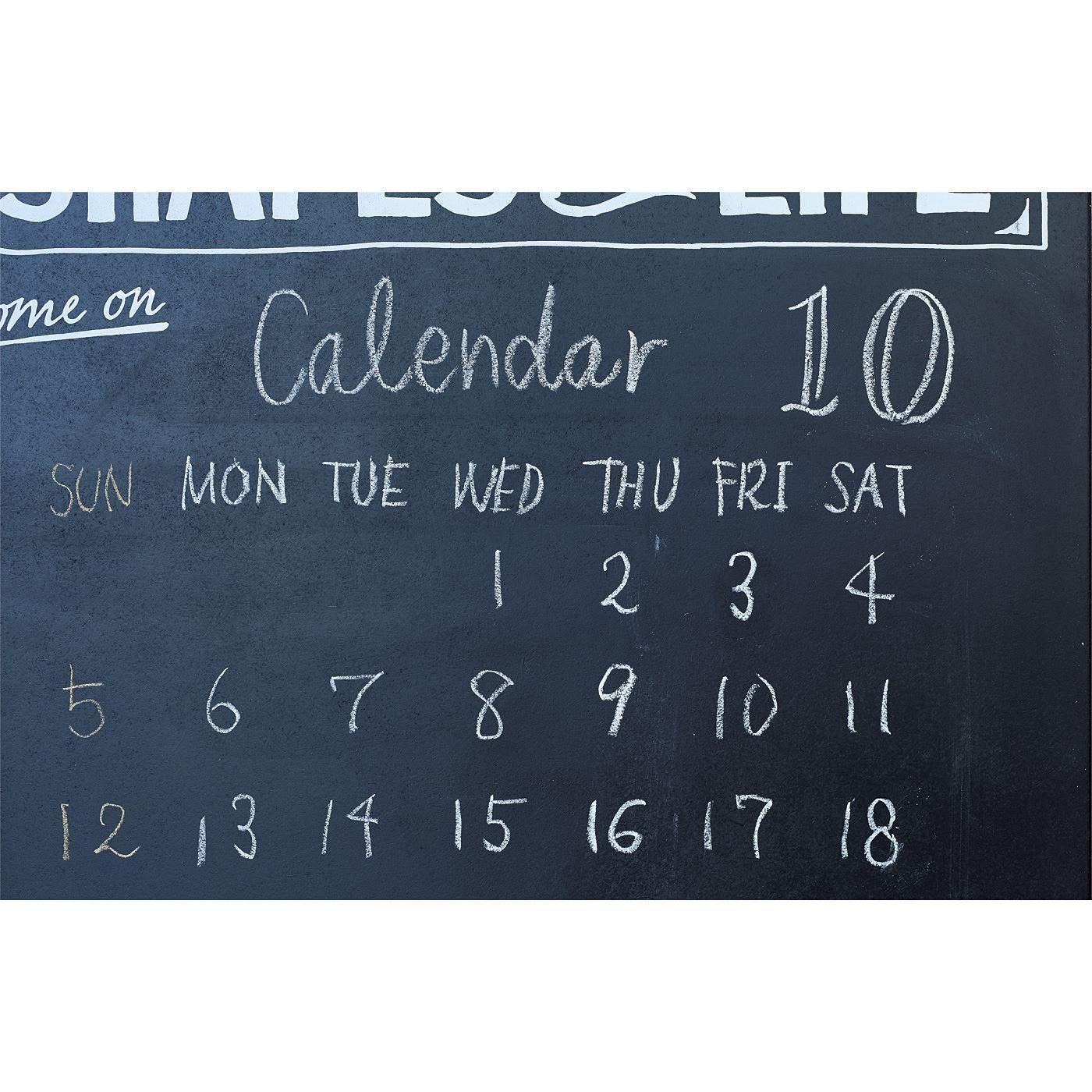 手描きのカレンダーもかっこよく決まる。