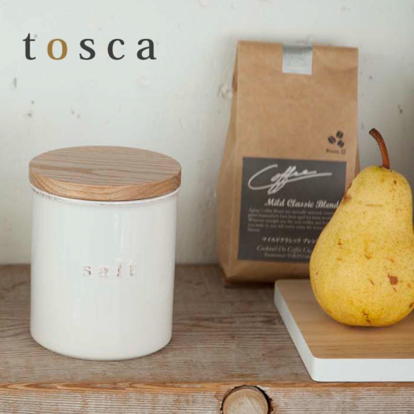 tosca 陶器キャニスター ソルト
