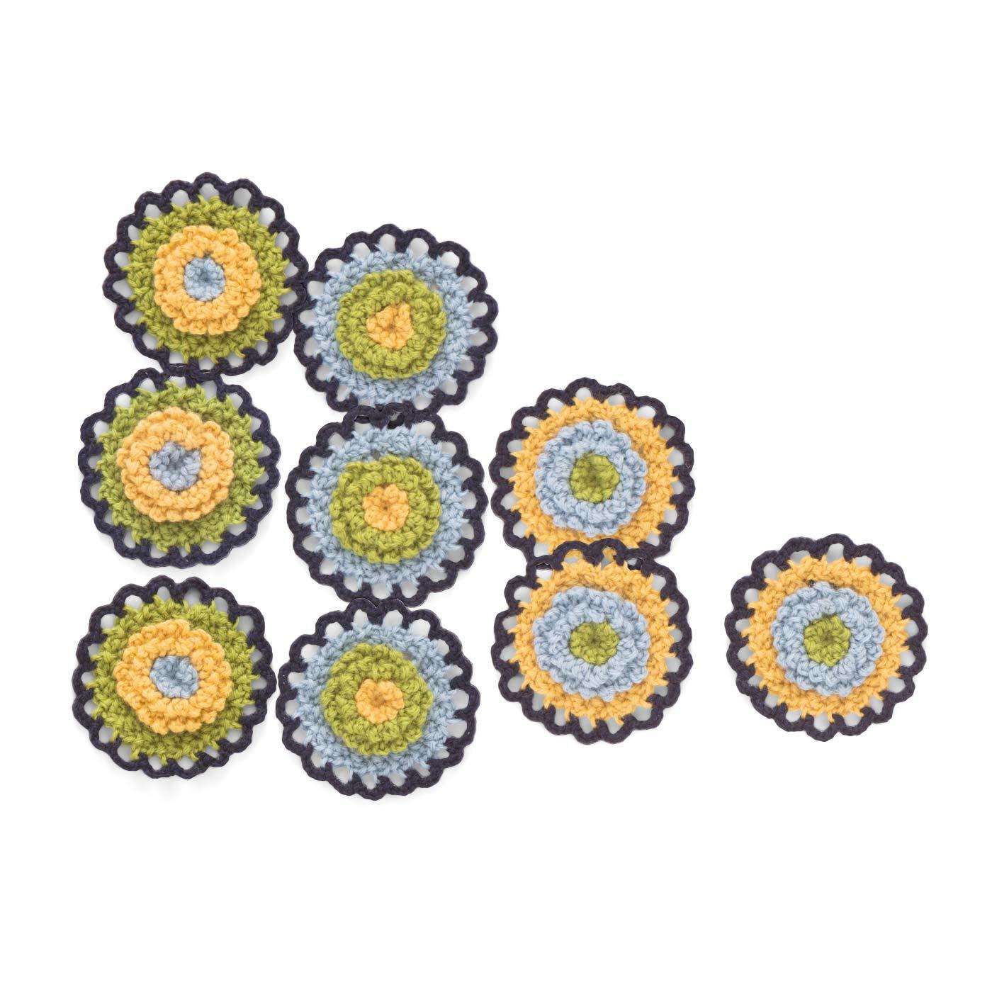 1回のお届けで、3パターン×3枚=9枚のモチーフが作れます。