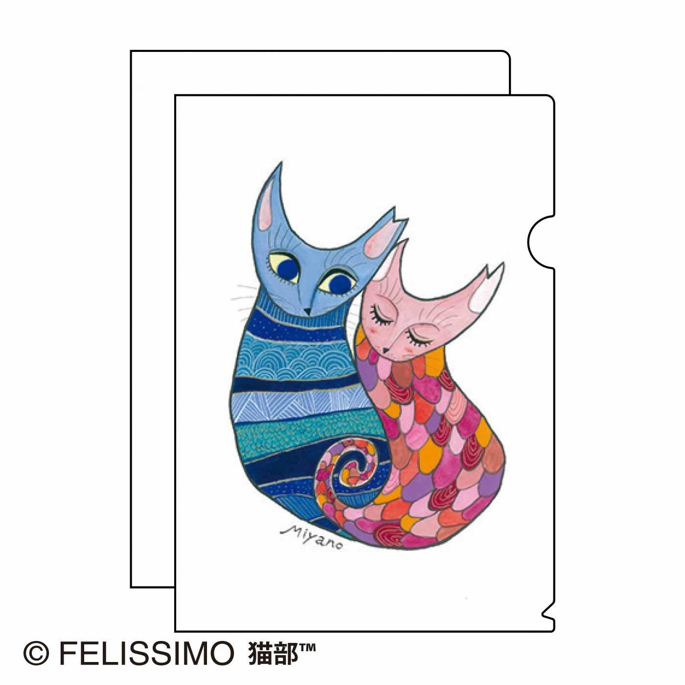 加悦雅乃×猫部 地域猫チャリティークリアファイル2021