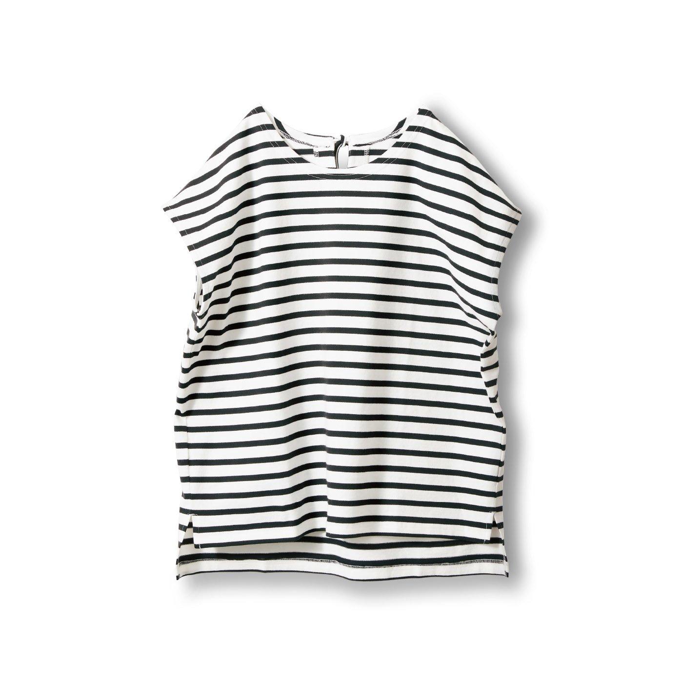 アヴェクモワ フレンチスリーブTシャツ〈ボーダー〉