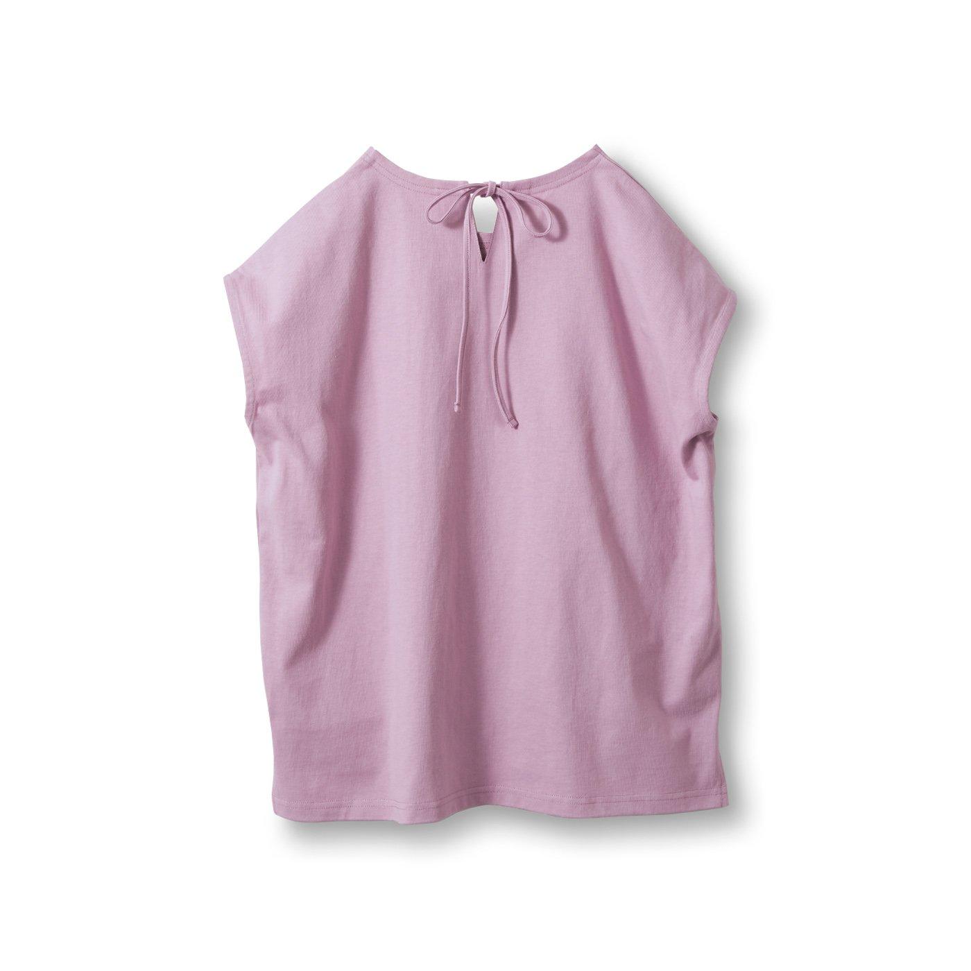 アヴェクモワ フレンチスリーブTシャツ〈ピンク〉