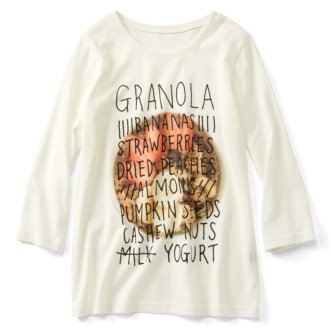 フェリシモ グラノーラ 七分袖Tシャツ