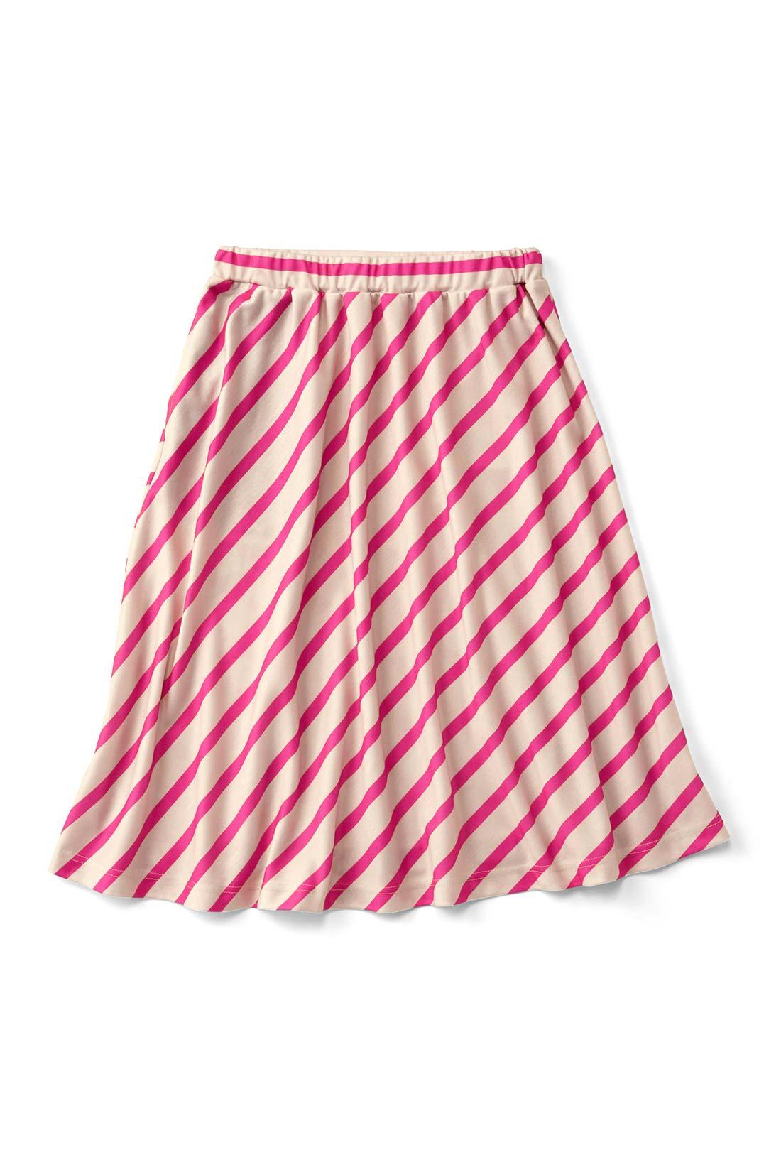 【ピンク】しわになりにくいカットソー素材がいいね。