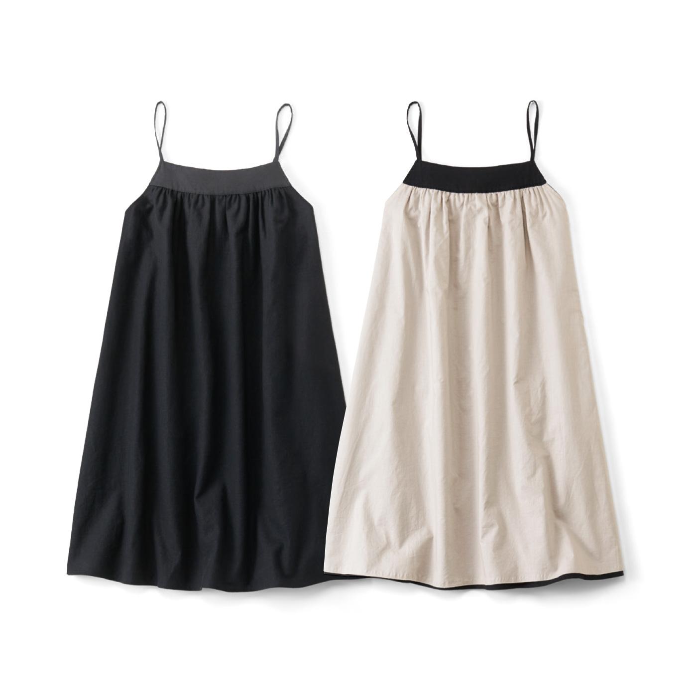 くるっと2-WAY スペシャルブラックキャミドレス〈ひざ丈〉