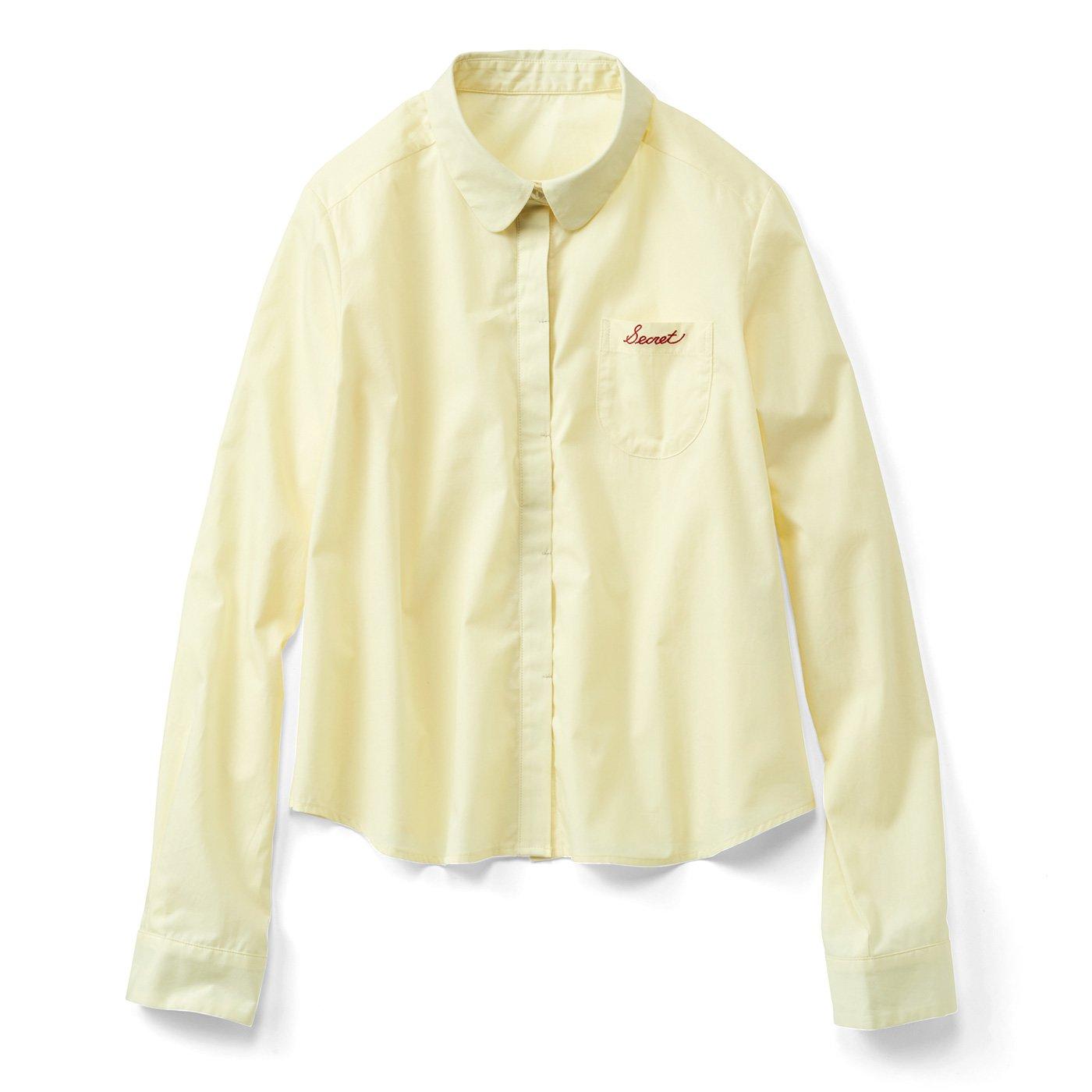 ポッケ刺しゅうのキリッとシャツ〈シトロン〉