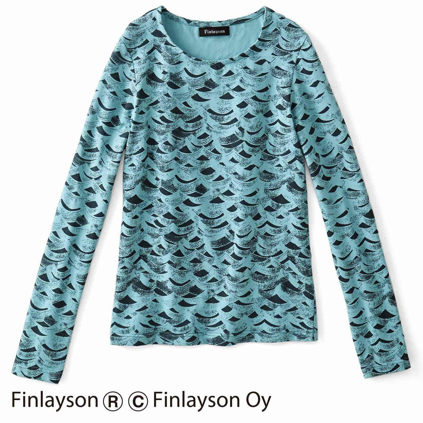 フィンレイソン コーデにアクセント 総柄Tシャツ〈ライネ〉