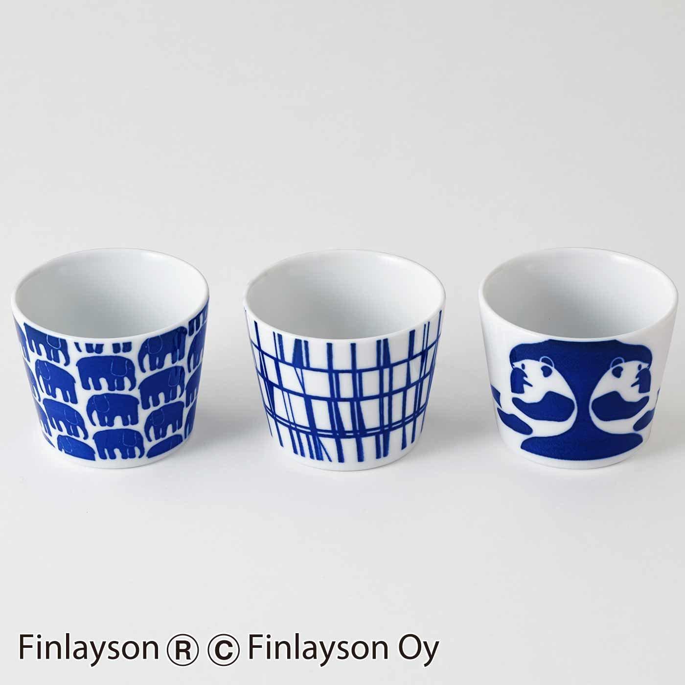 【3~10日でお届け】フィンレイソン 藍色美しい磁器セット〈フリーカップ3種〉