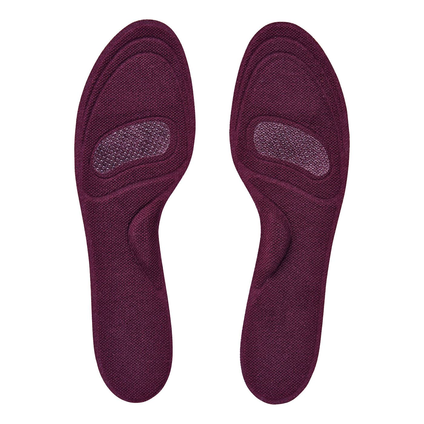 フェリシモ 足裏さらり快適!上品カラーで靴を脱いでも安心なシール付き薄型インソールの会