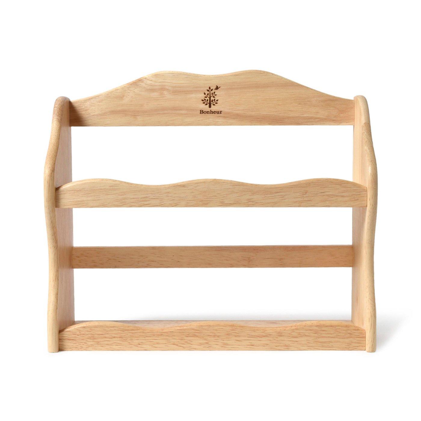キッチンをおしゃれに演出!木製スパイスラック <ボヌール>