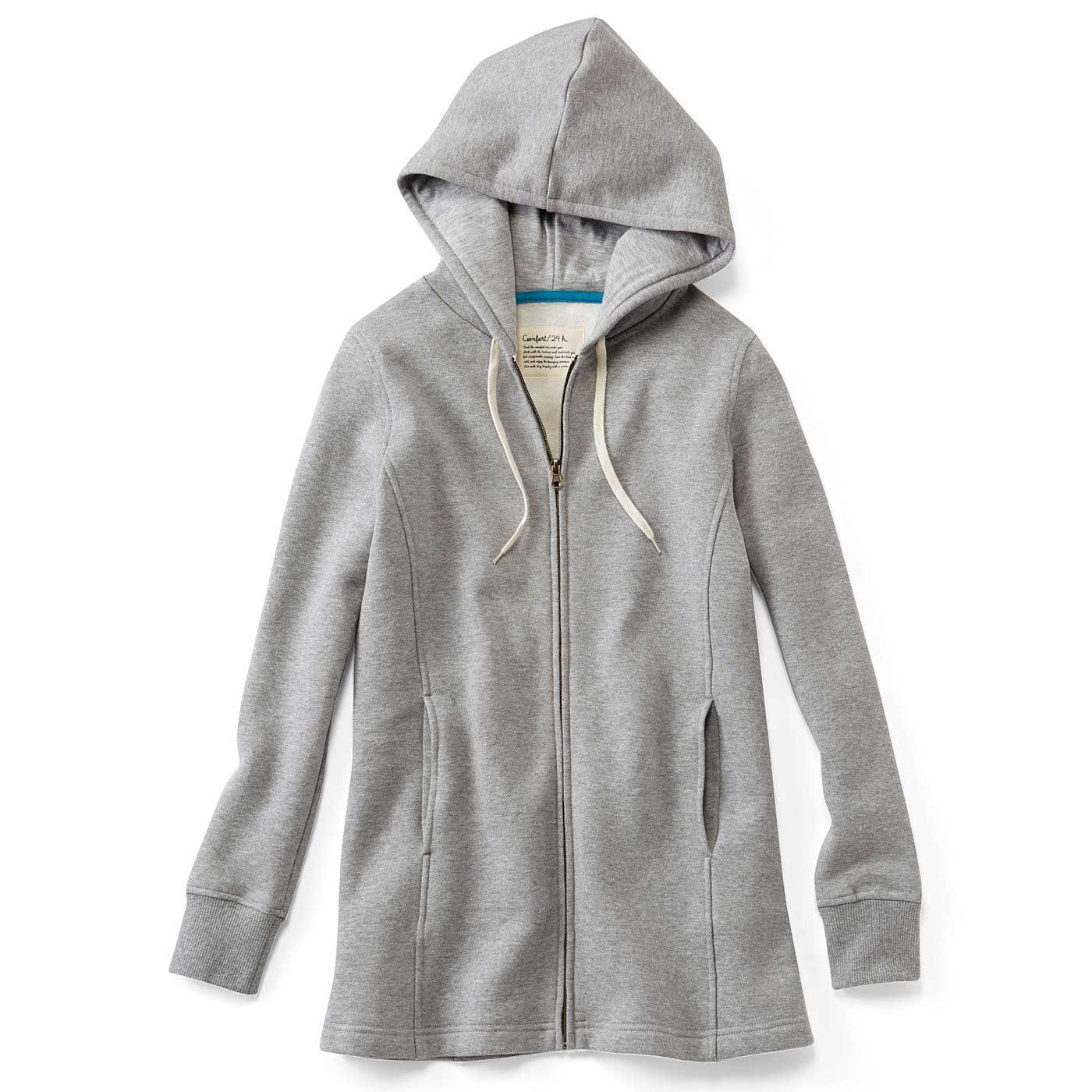 〈杢(もく)グレー〉立体設計だから着るだけですっきりシルエット。