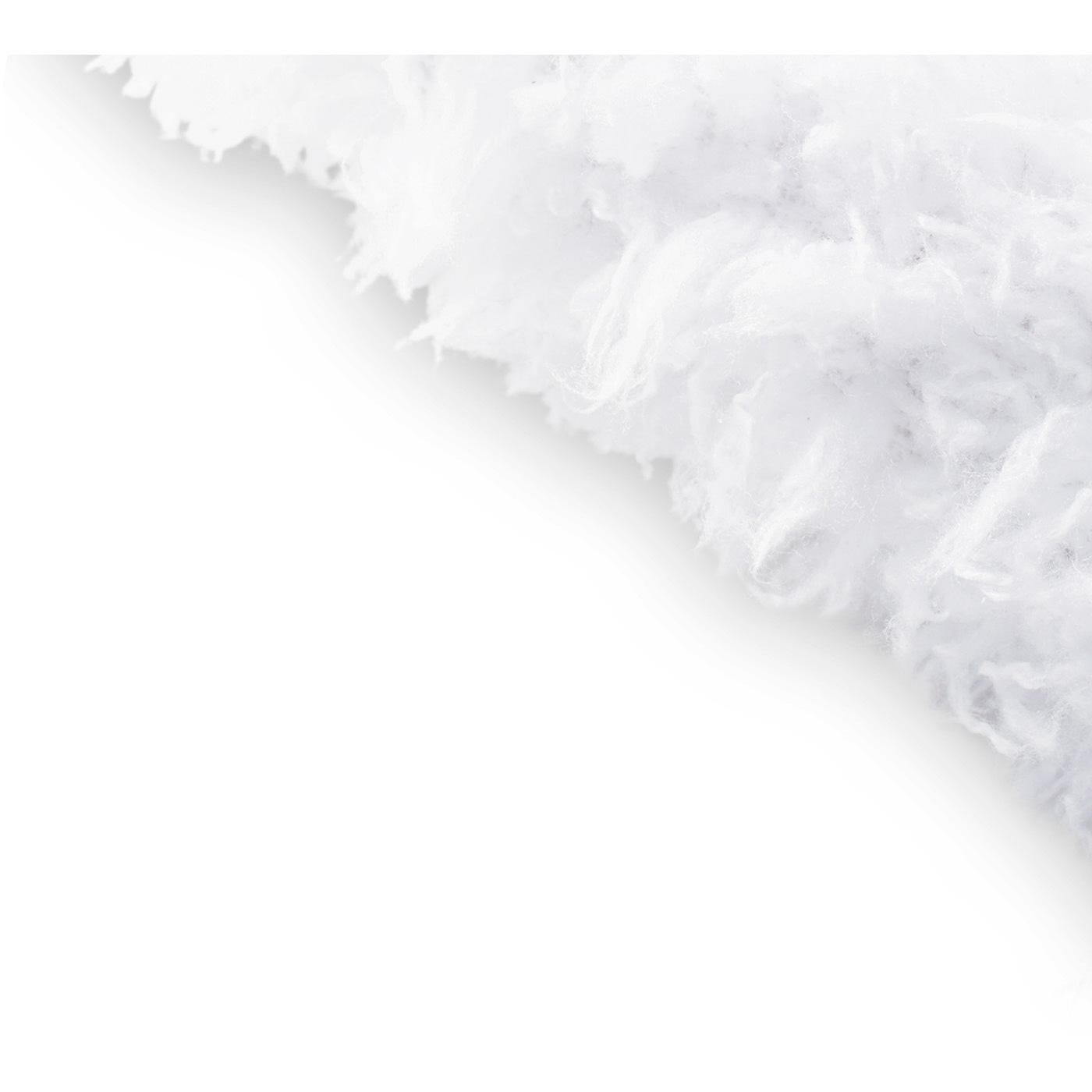 表側はもふもふの冬毛をイメージした吸水素材。