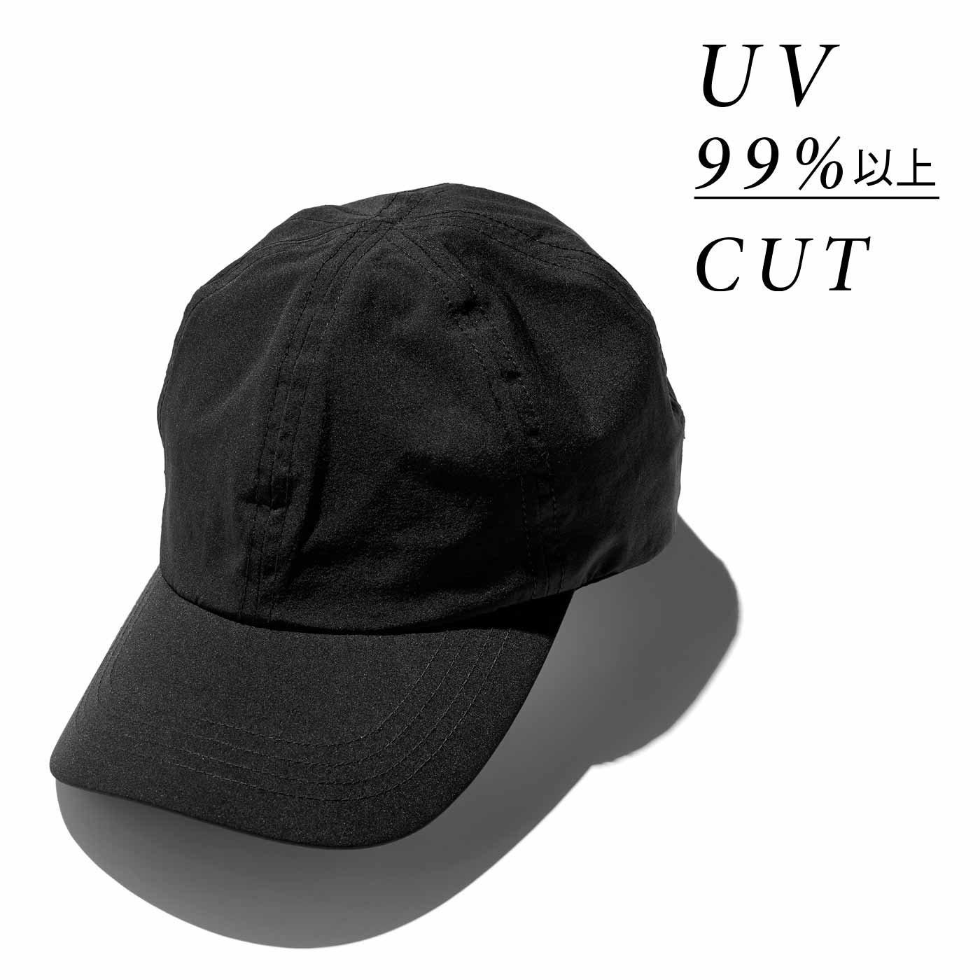 【3~10日でお届け】IEDIT[イディット] 福田麻琴さんコラボ 大人きれいめキャップ〈ブラック〉