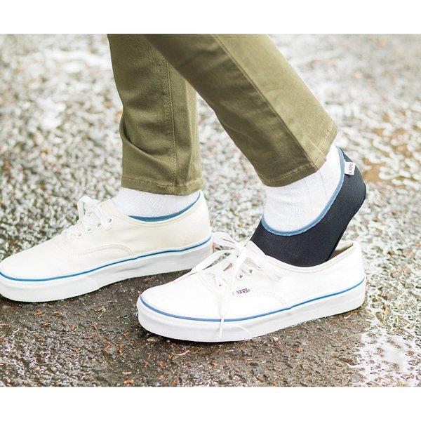 【2個セット初回お試し】水を通さないのに 湿気は逃がしてくれる 雨の日快適靴下カバーの会
