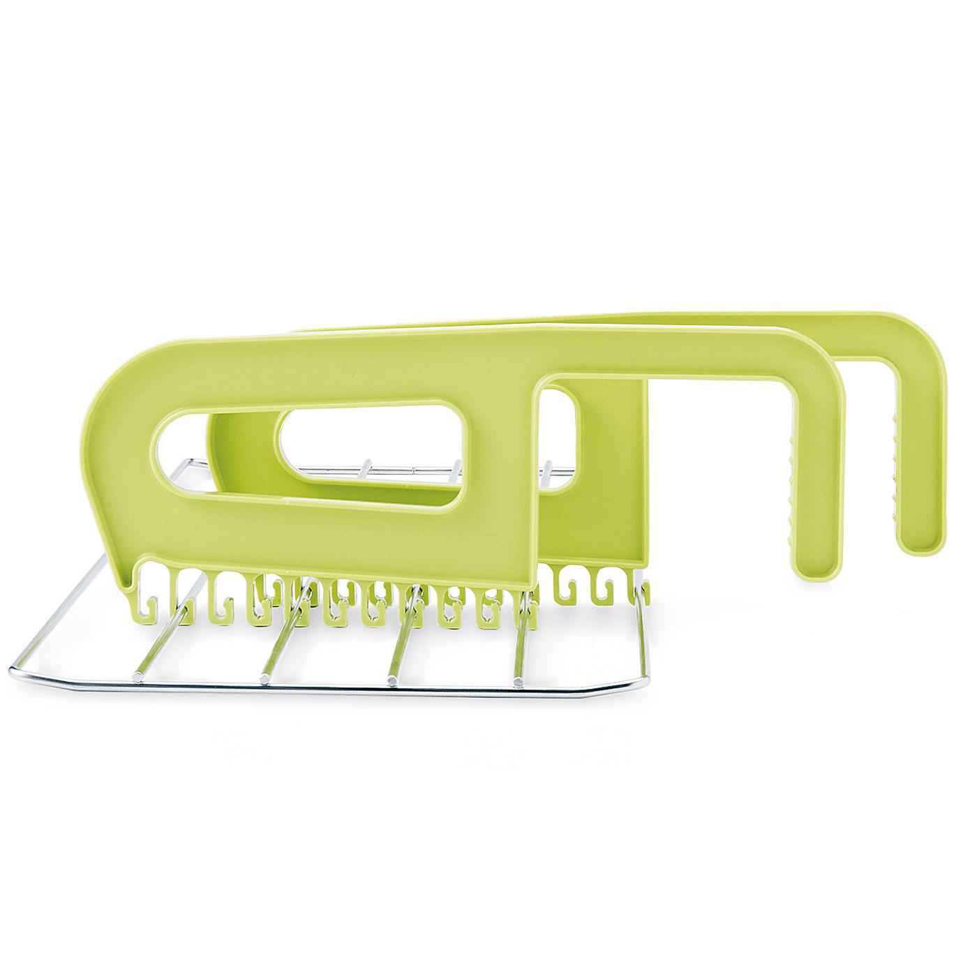 掛ける場所や幅に合わせて引っ掛け部をスライドして取り付けられます。