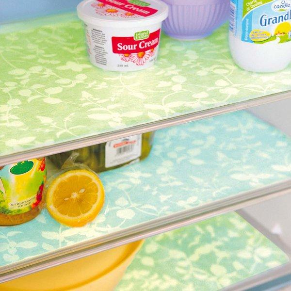 ナチュラルなグリーンハーブでさわやか気分 水分をしっかりキャッチする切れちゃう冷蔵庫シートの会