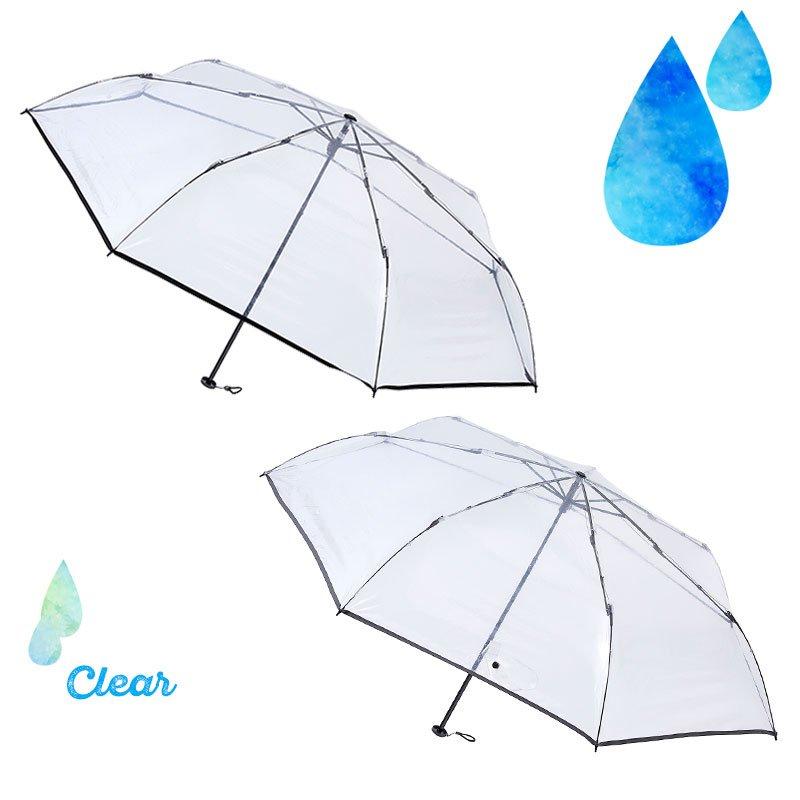 エスタ 超軽量 しわになりにくい 折りたたみ透明傘