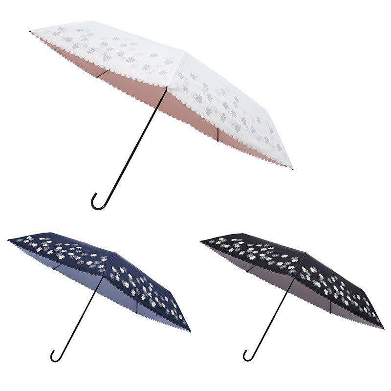 1級遮光生地使用 傘をさしても明るく映える晴雨兼用傘 マーガレット