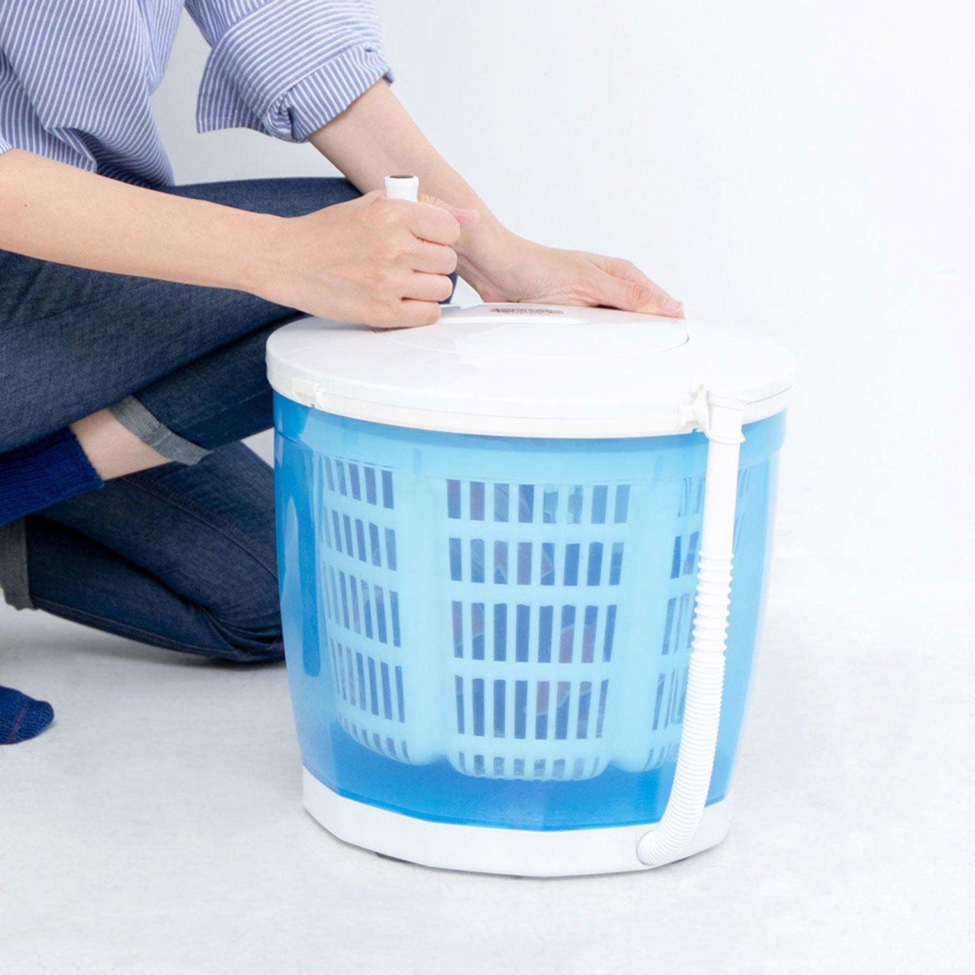 【大物配送】汚れ物の別洗いに 電気がなくても洗濯できる 手動洗濯&脱水機 エコスピンウォッシャー