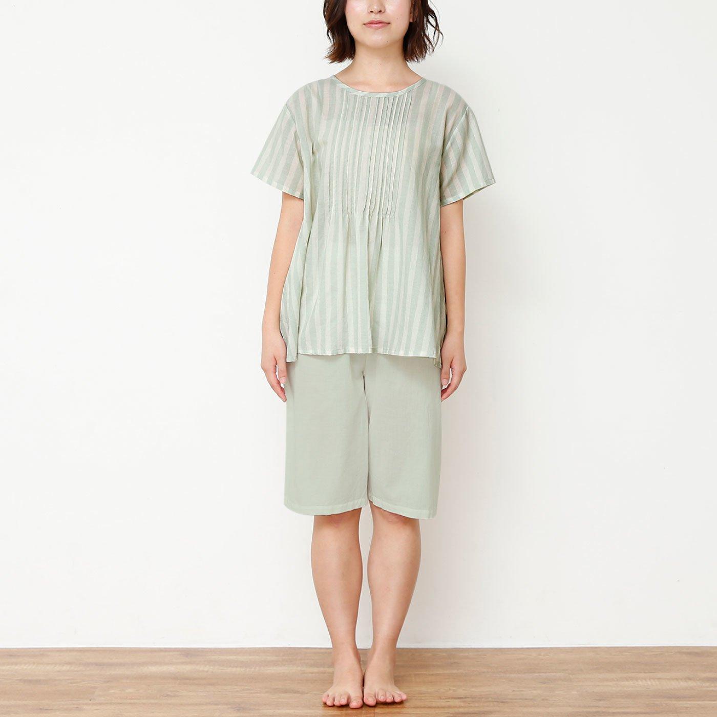 爽やかさんのピンタックパジャマ<半袖>