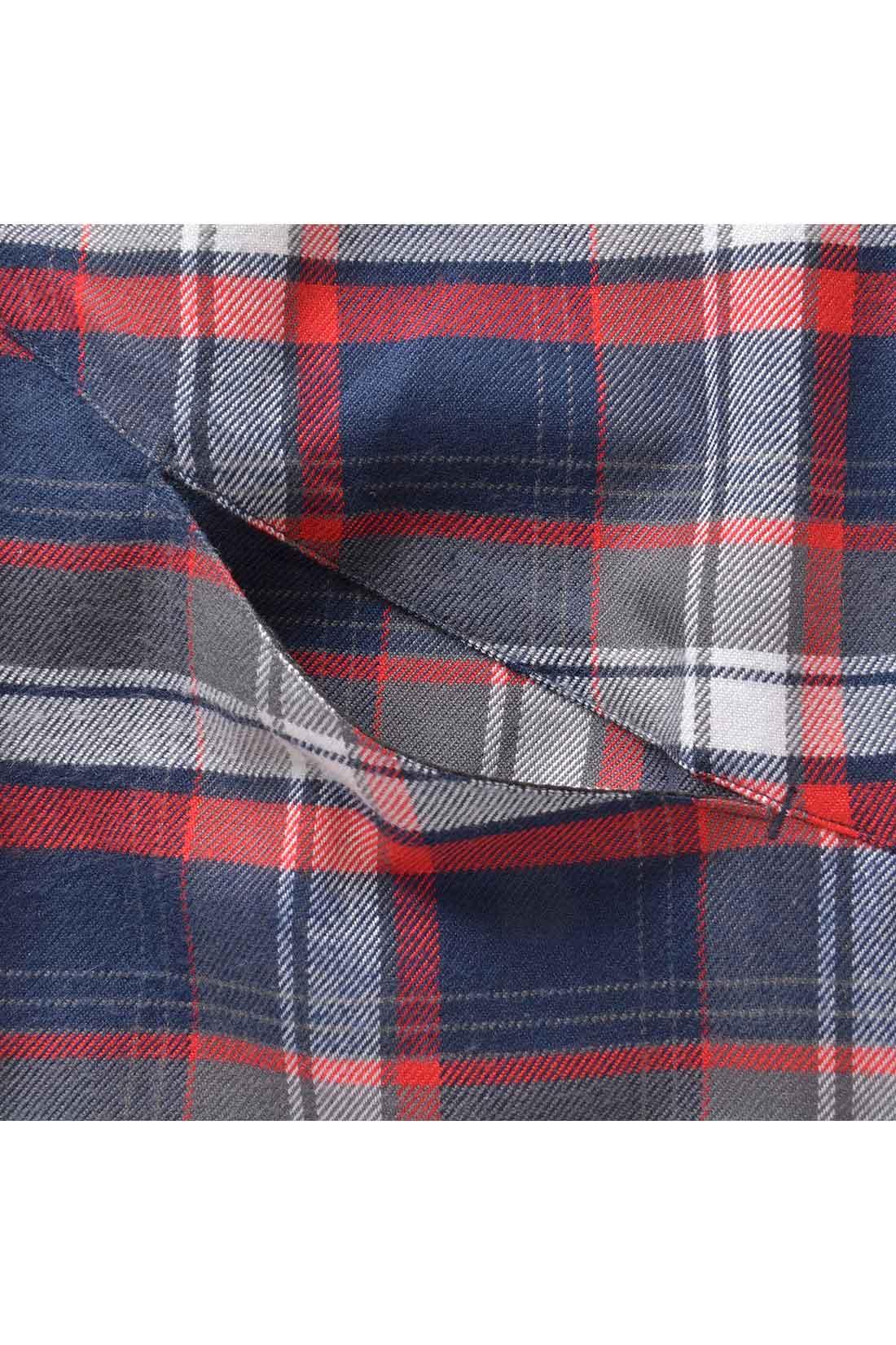 丸みをつけた切り替えは実はポケット。