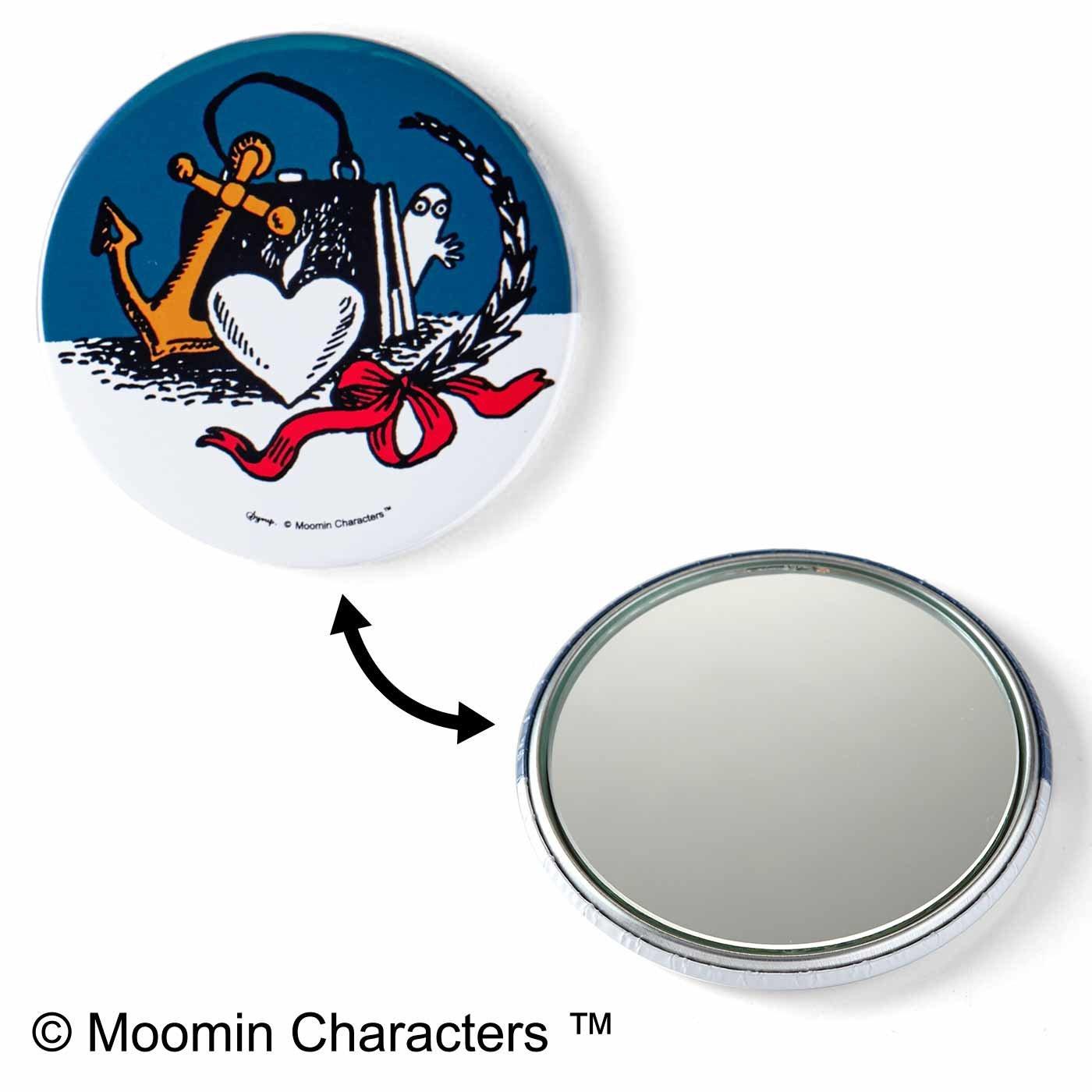 MOOMIN 携帯に便利なコンパクトミラー〈ニョロニョロ〉