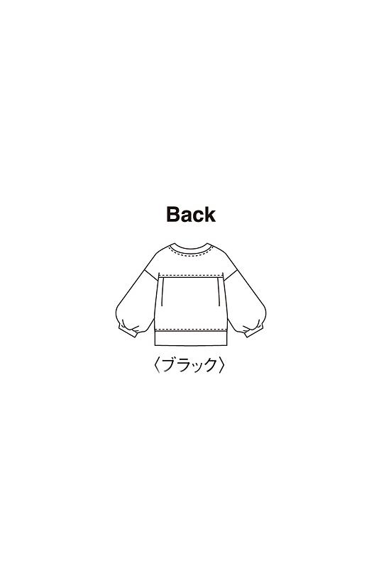 Back モード感が楽しめるブラックは、詰まり気味の衿もとがコンパクトできりりとした印象に。