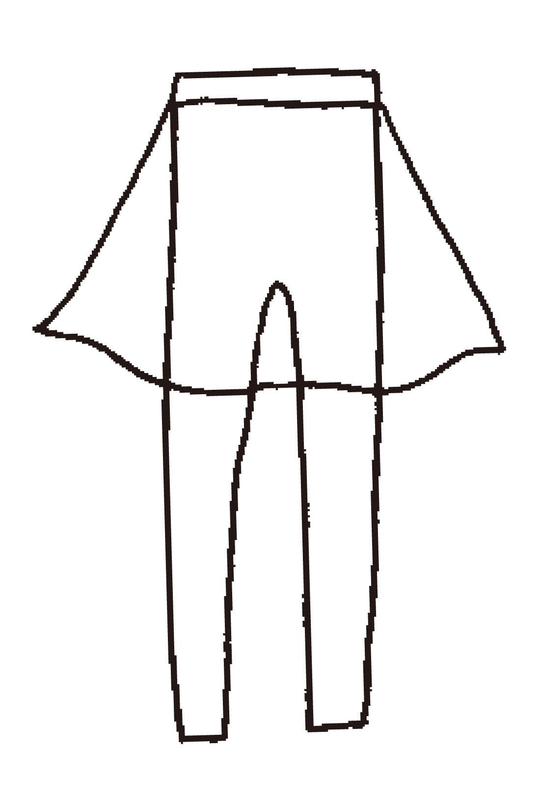 総ゴムのウエスト部分にレギンスを縫い付けてらくちん&スッキリ見え!