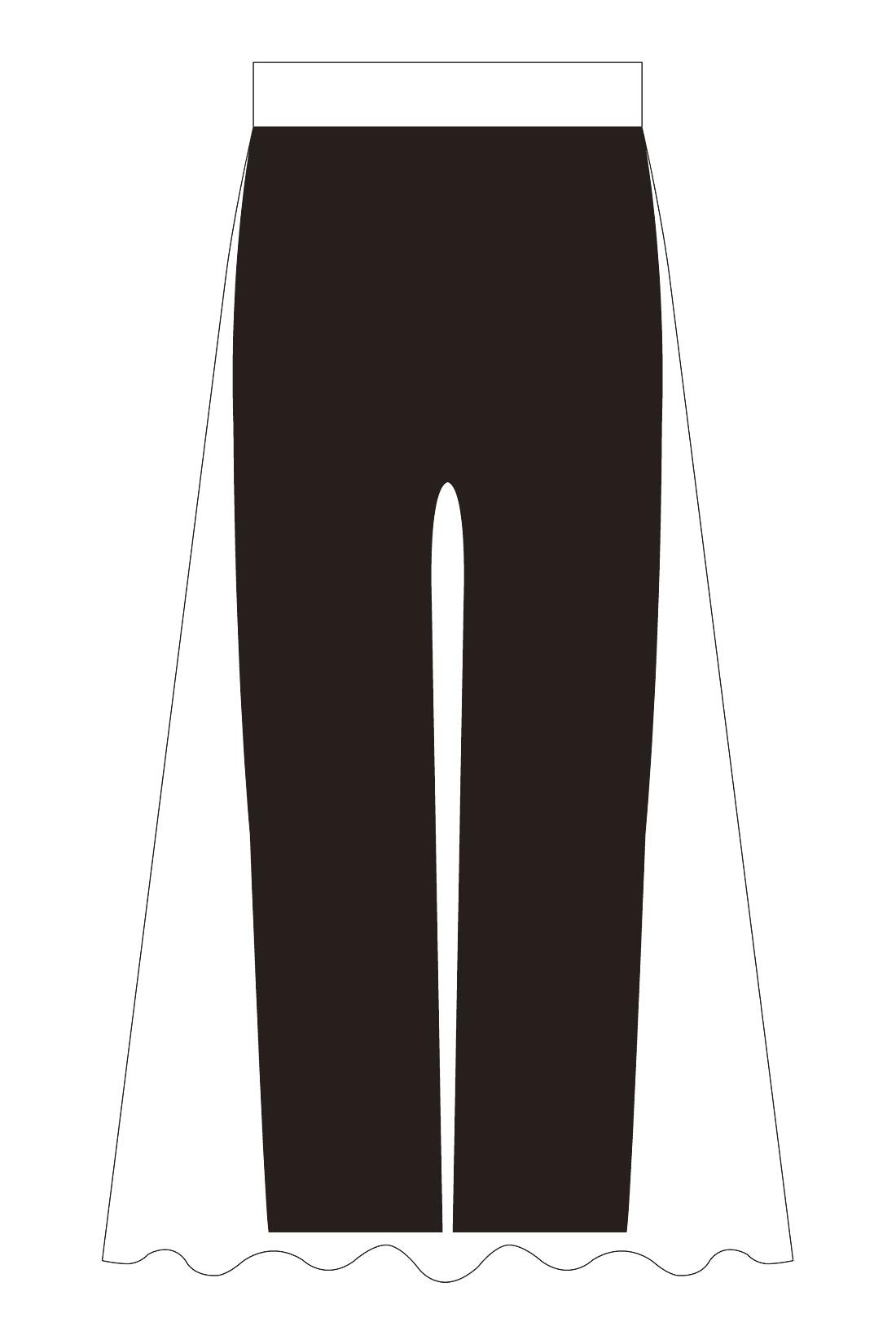 くるぶし丈のあったかレギンスをドッキングしました。黒だから、すそからチラリと見えてもレイヤード風で安心。