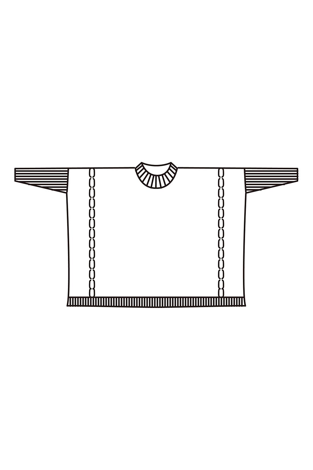 たっぷりしたシルエットがニュアンスのある動きを演出。細身のリブ袖なので膨張せず印象すっきり。