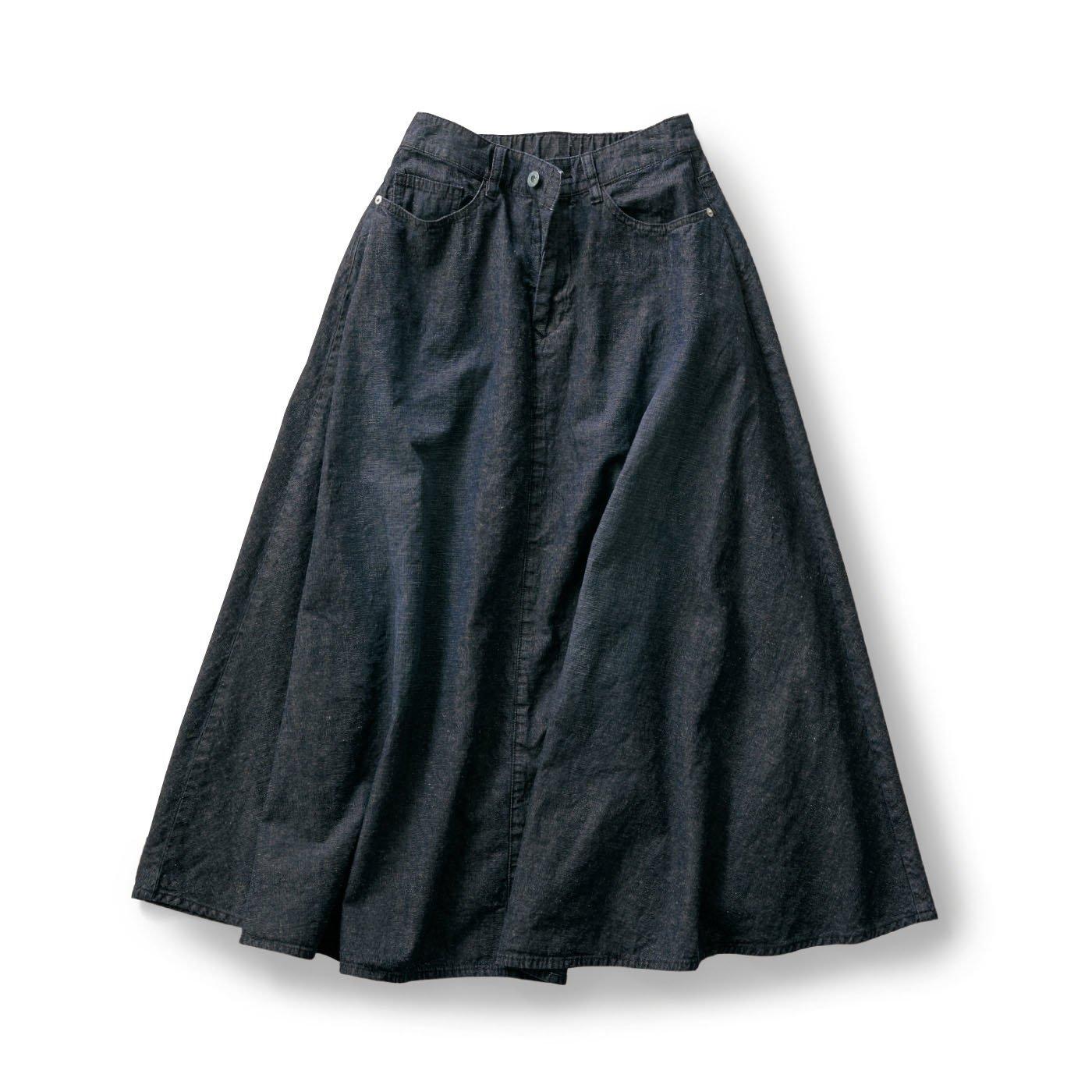 サニークラウズ マキシなインディゴスカート〈レディース〉